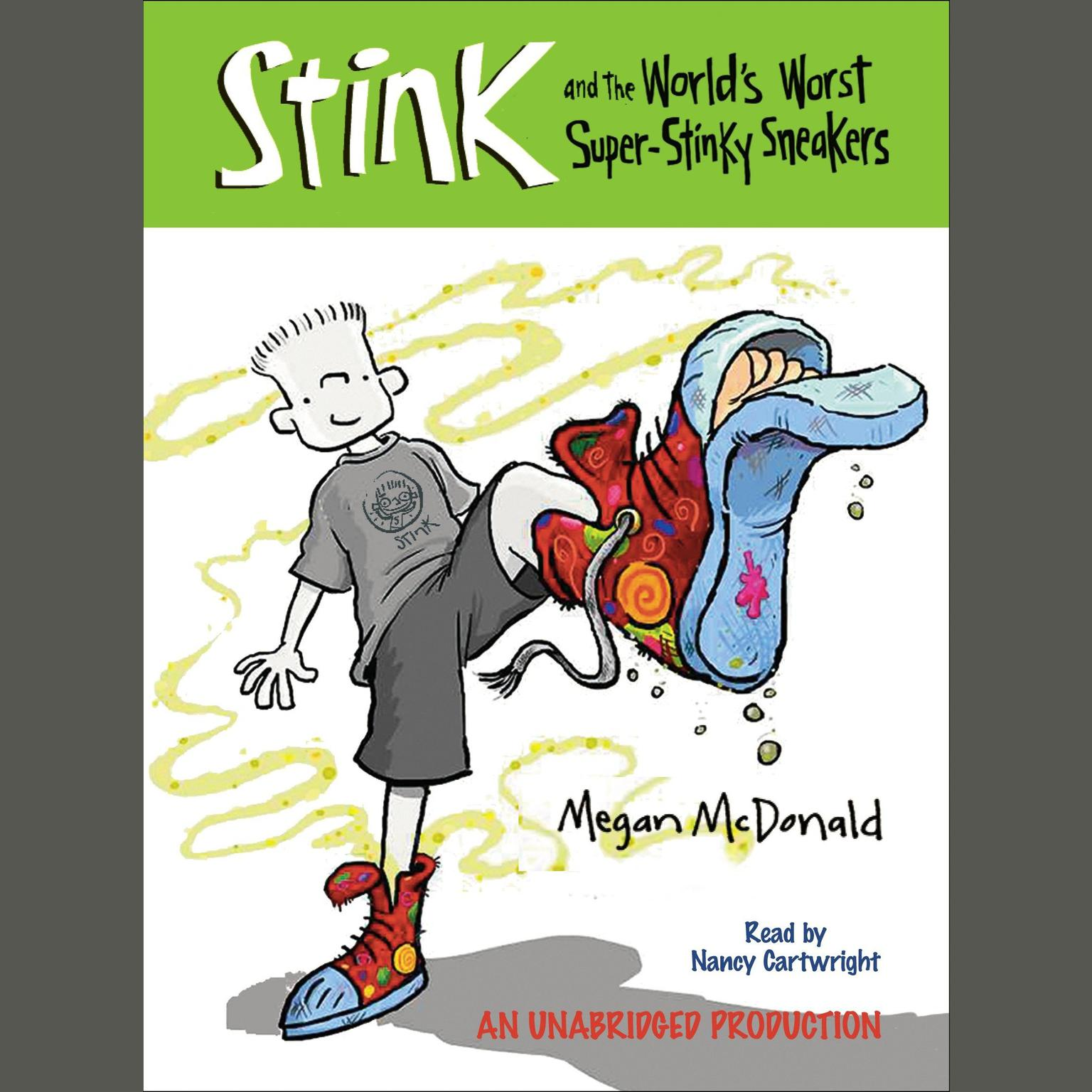 Printable Stink and the World's Worst Super-Stinky Sneakers (Book #3) Audiobook Cover Art