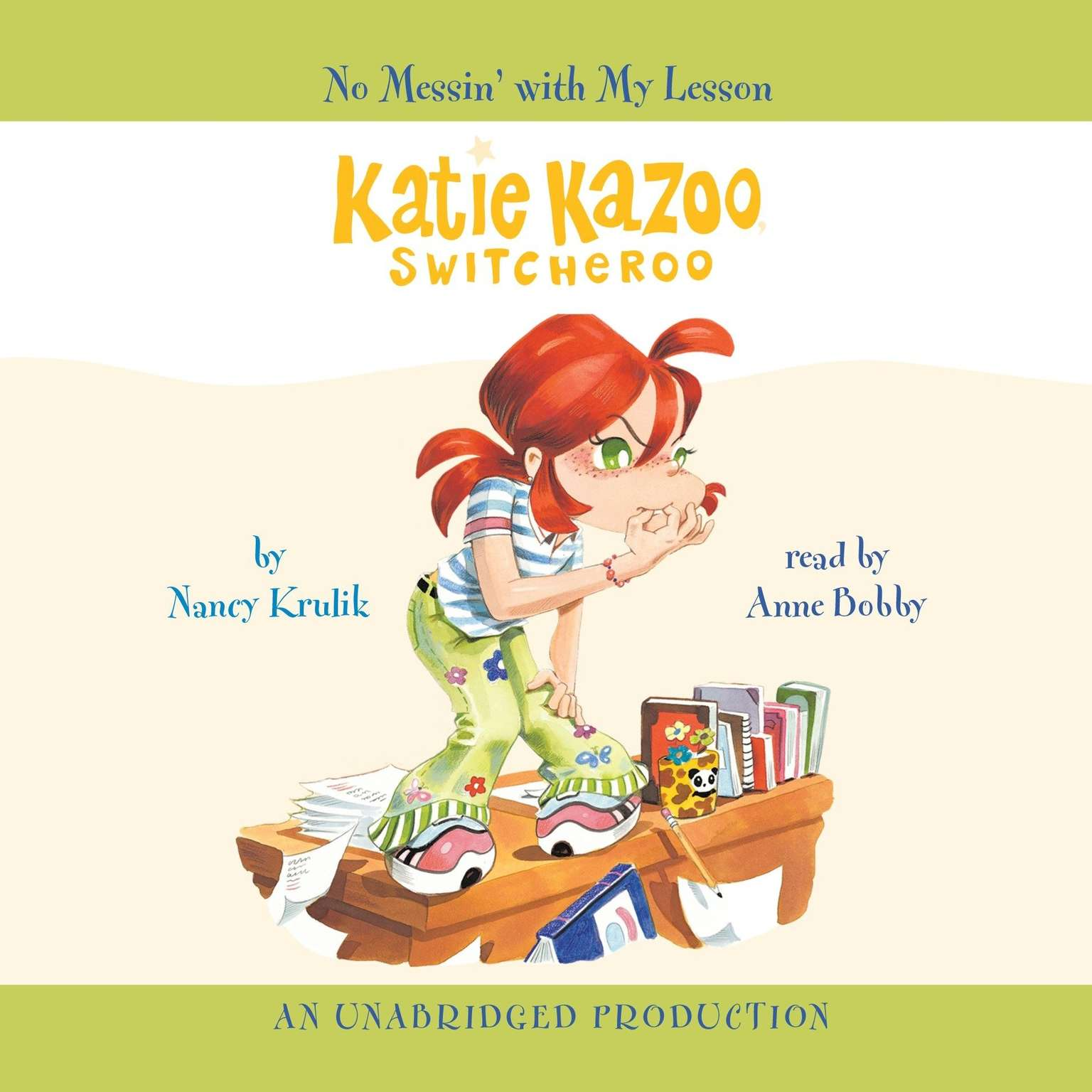 Printable Katie Kazoo, Switcheroo #11: No Messin' With My Lesson Audiobook Cover Art