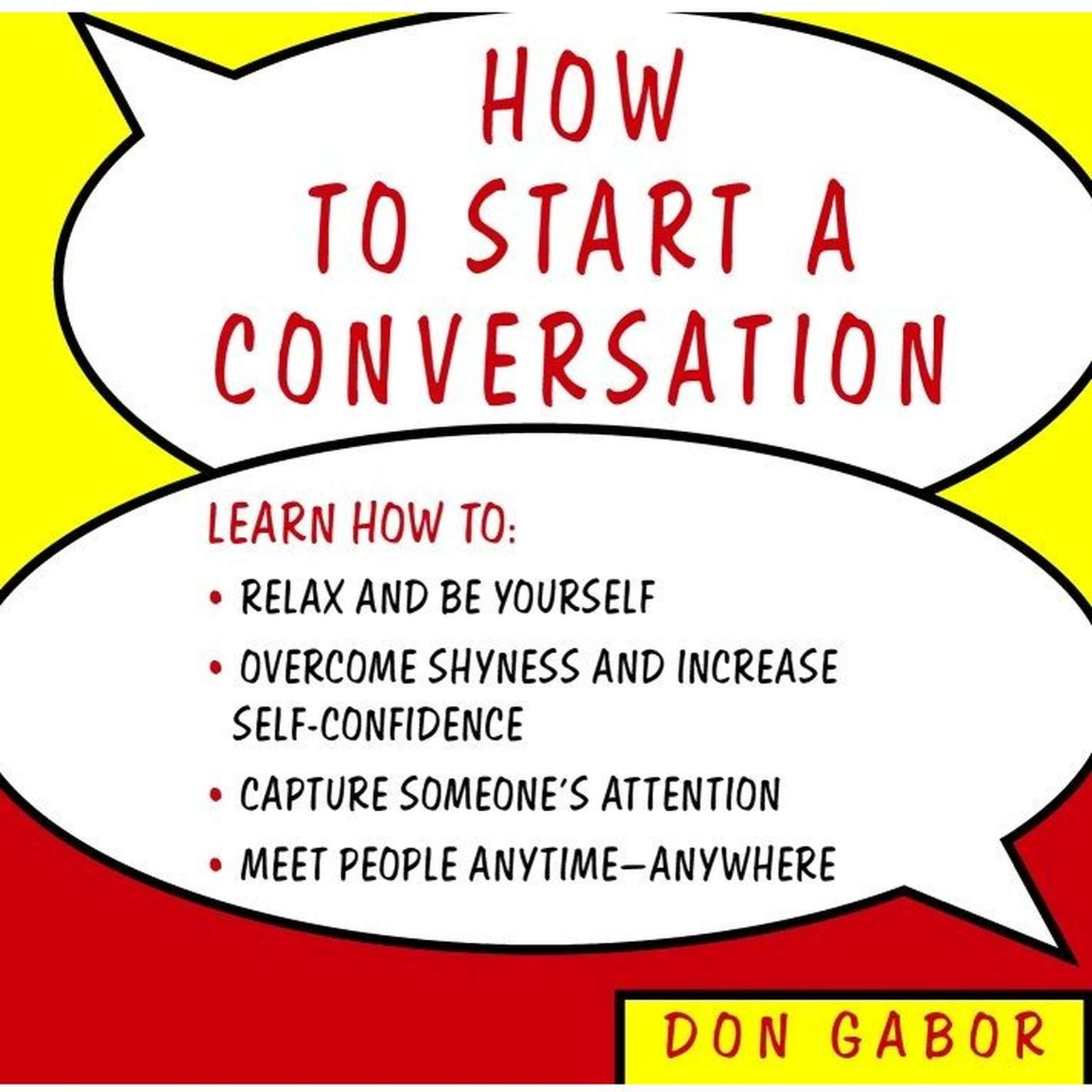 Printable How to Start a Conversation Audiobook Cover Art