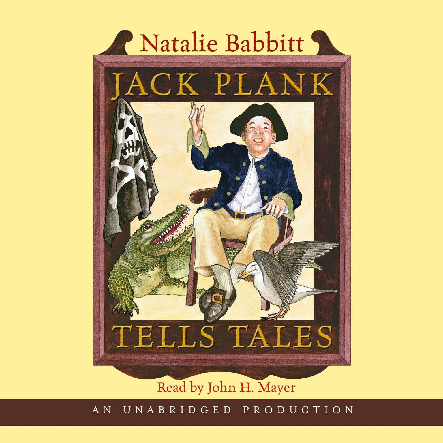 Printable Jack Plank Tells Tales Audiobook Cover Art