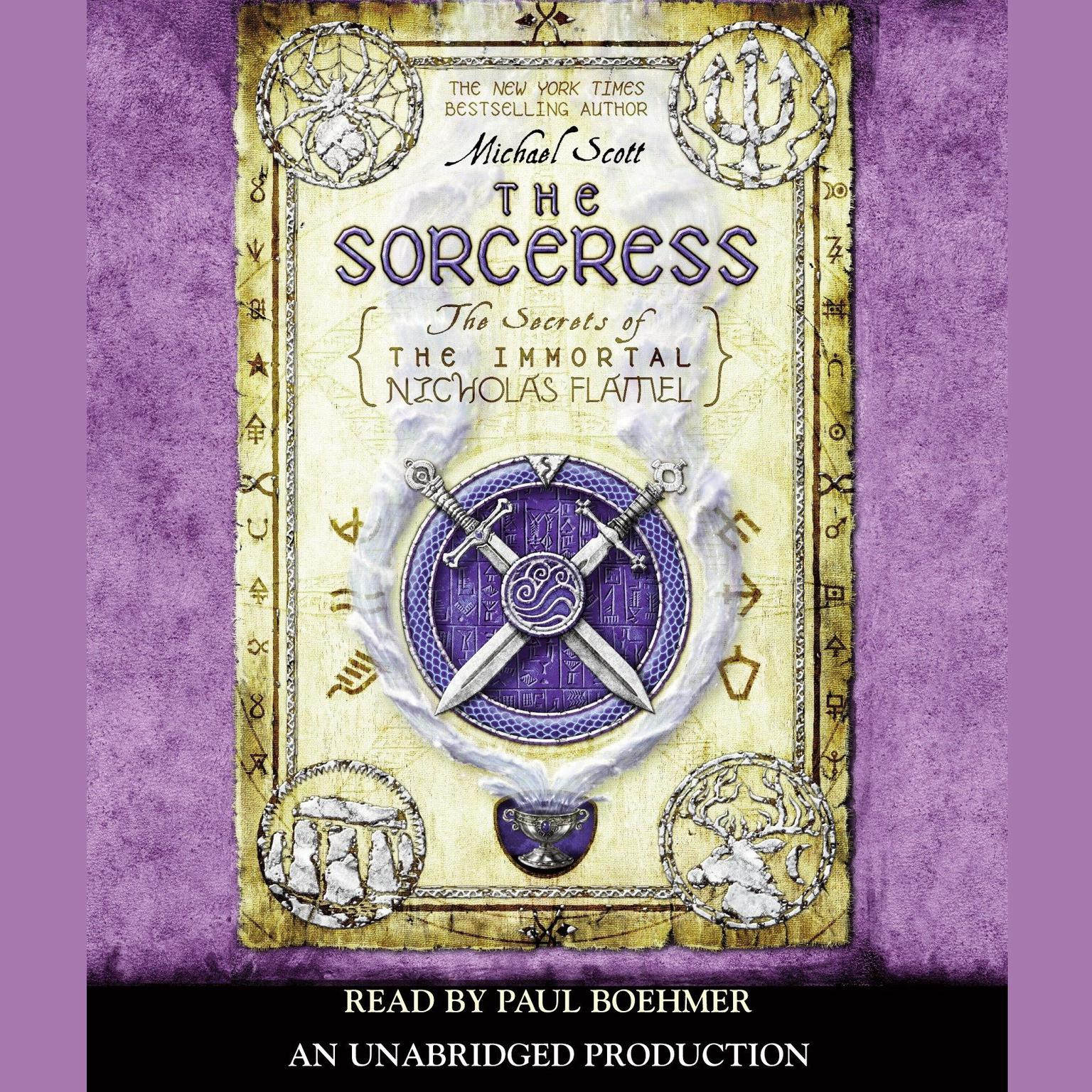 Printable The Sorceress: The Secrets of the Immortal Nicholas Flamel Audiobook Cover Art