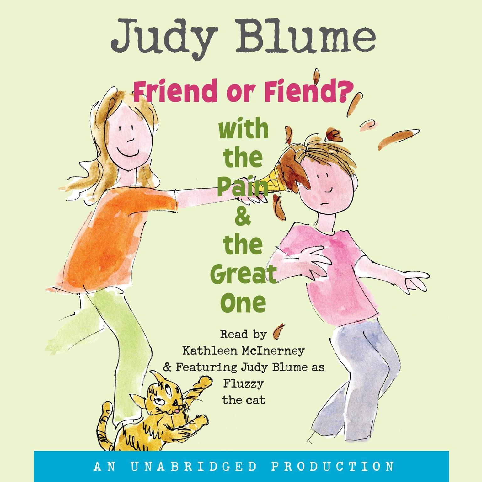 Printable Friend or Fiend? with the Pain and the Great One Audiobook Cover Art