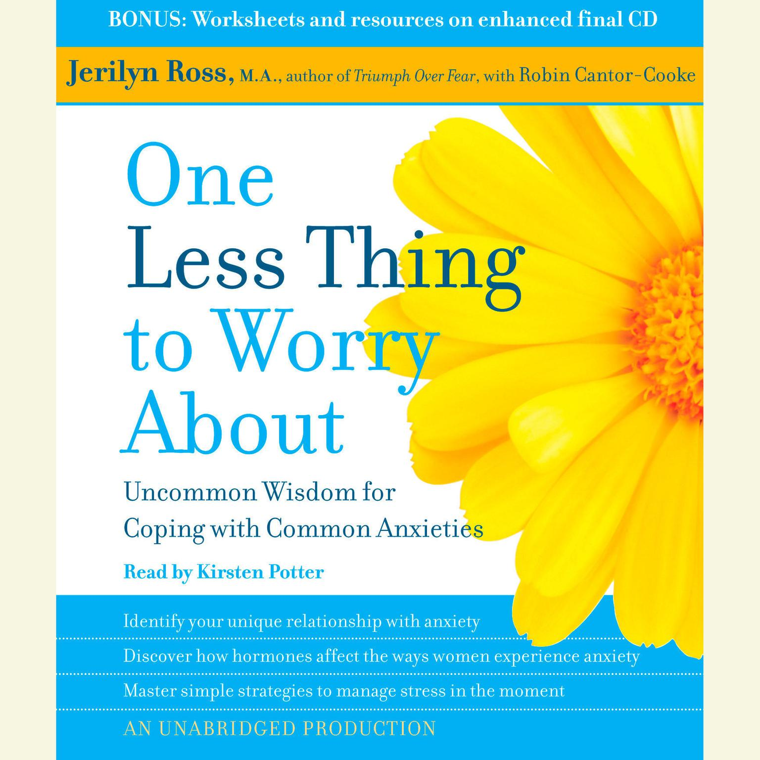 Printable One Less Thing to Worry About: Uncommon Wisdom for Coping with Common Anxieties Audiobook Cover Art