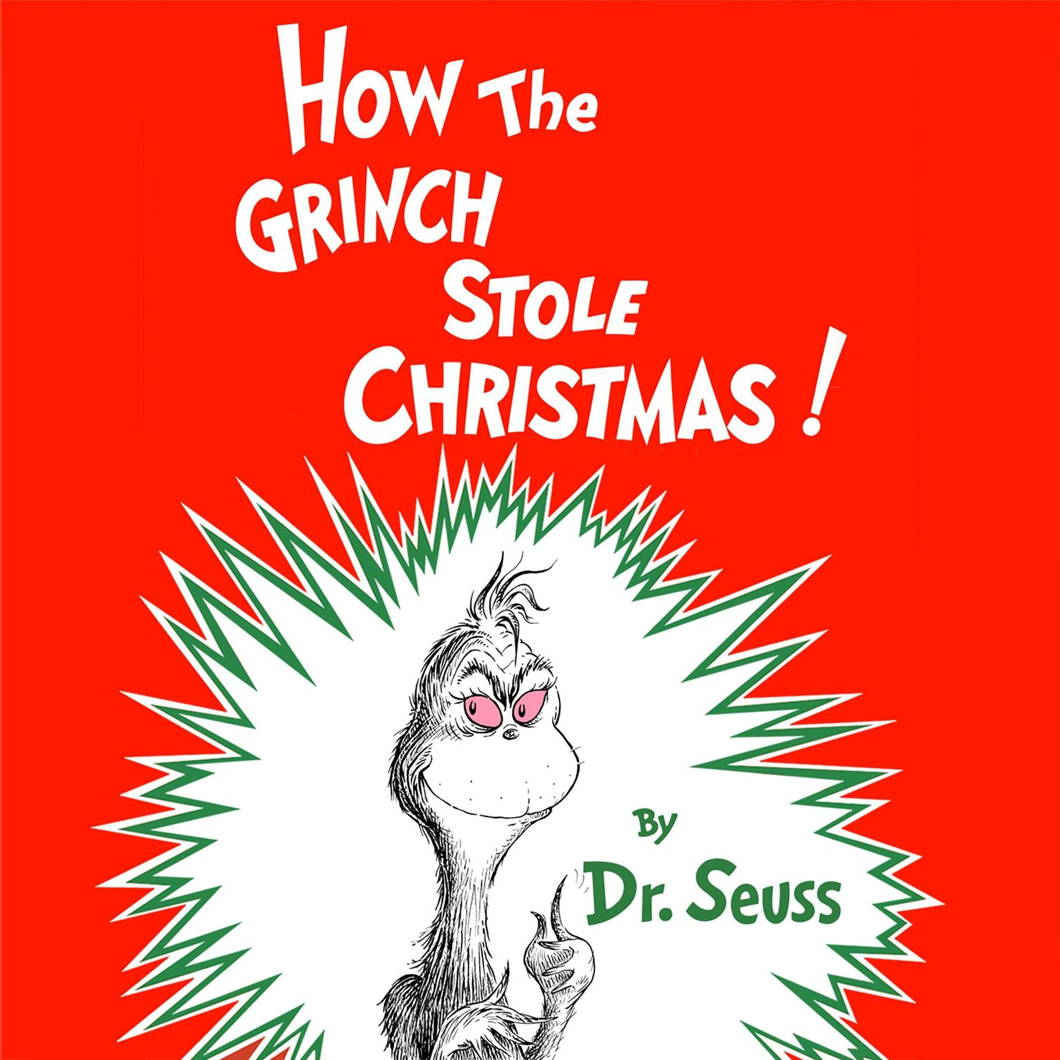Printable How the Grinch Stole Christmas Audiobook Cover Art