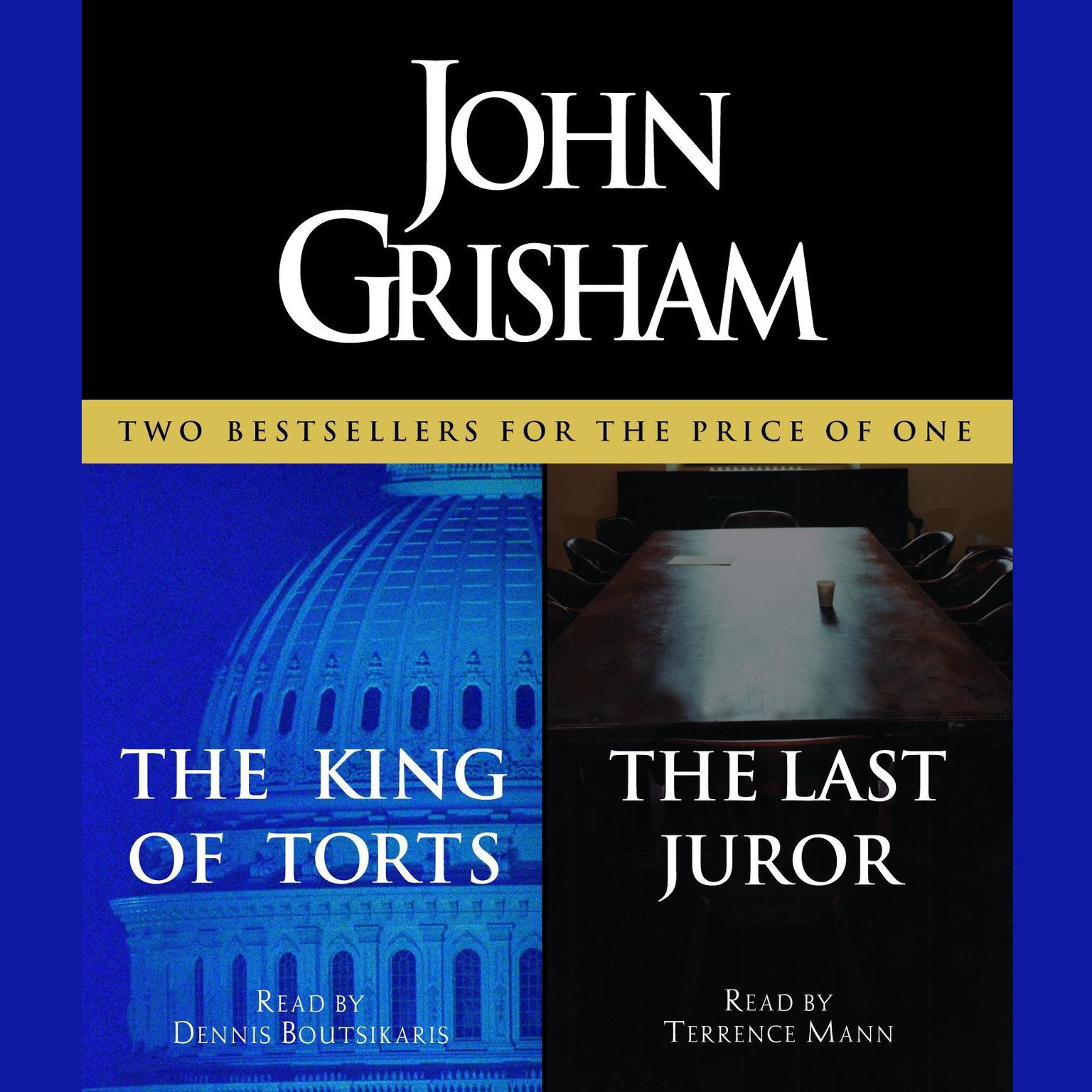 Printable The King of Torts & The Last Juror Audiobook Cover Art