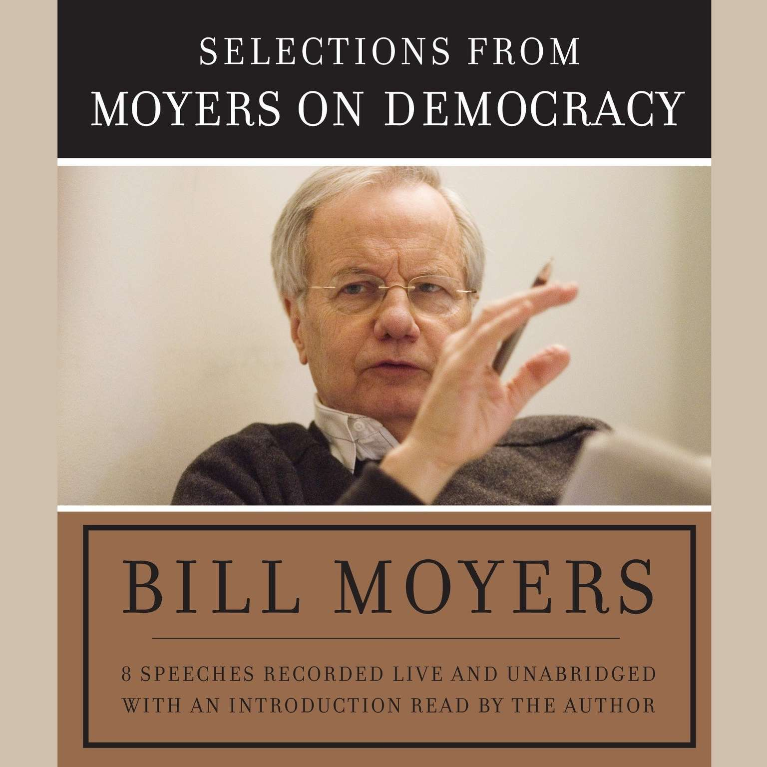 Printable Moyers on Democracy Audiobook Cover Art