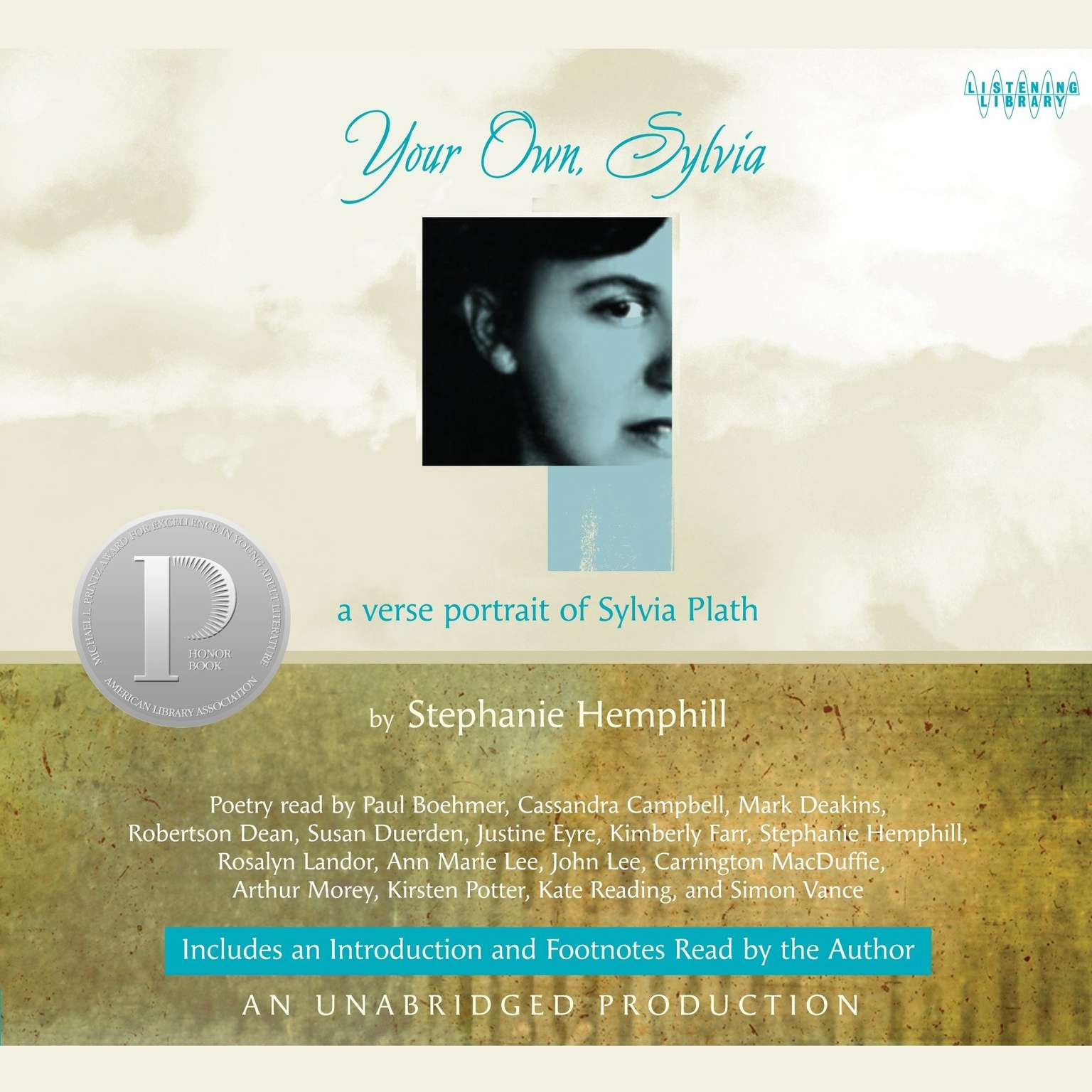 Printable Your Own, Sylvia: A Verse Portrait of Sylvia Plath Audiobook Cover Art