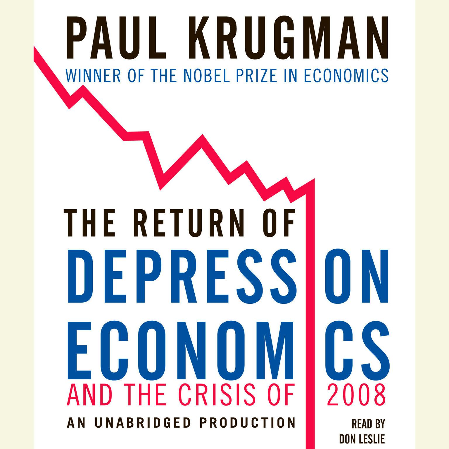 Printable The Return of Depression Economics and the Crisis of 2008 Audiobook Cover Art