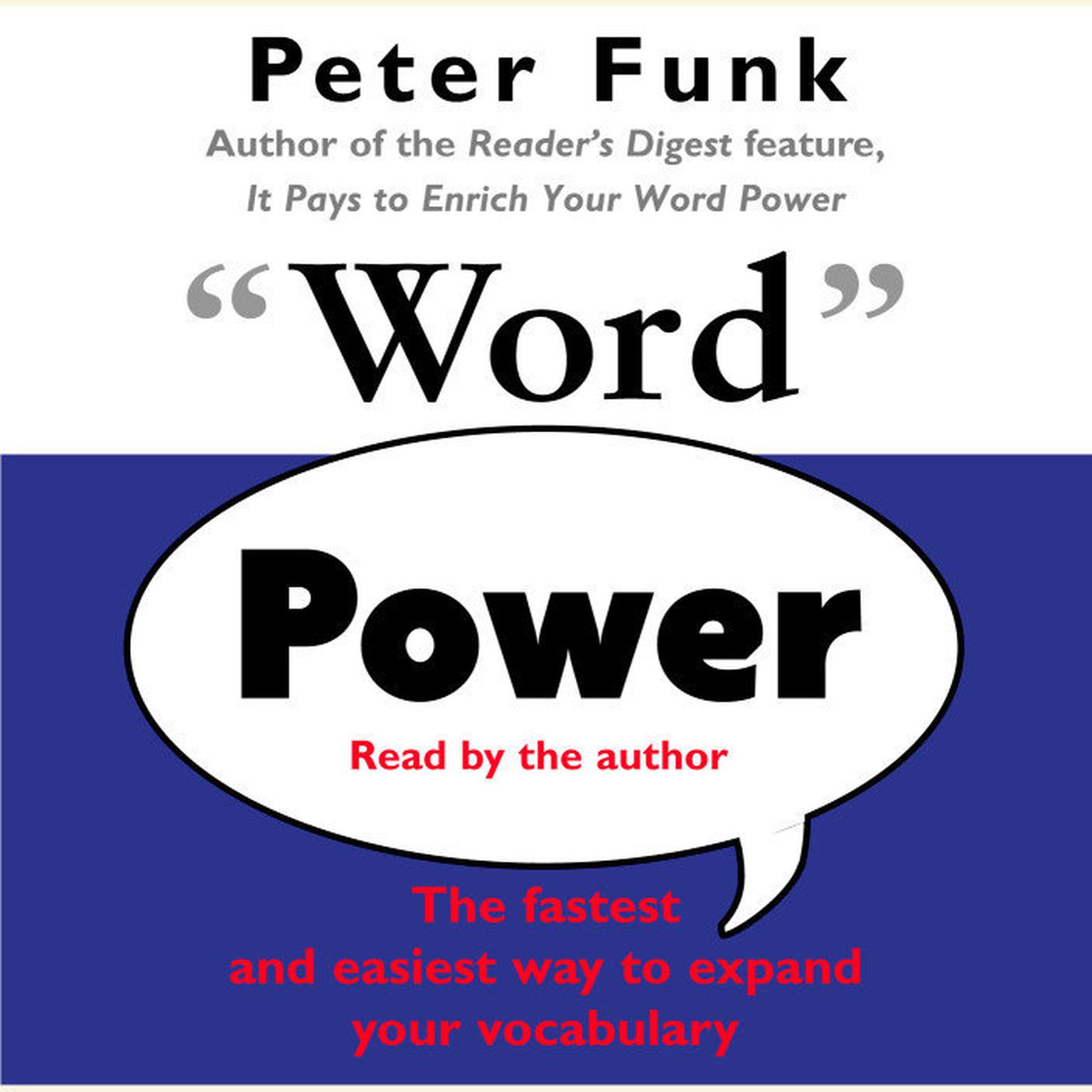 Printable Word Power: The Fastest and Easiest Way to Expand Your Vocabulary Audiobook Cover Art