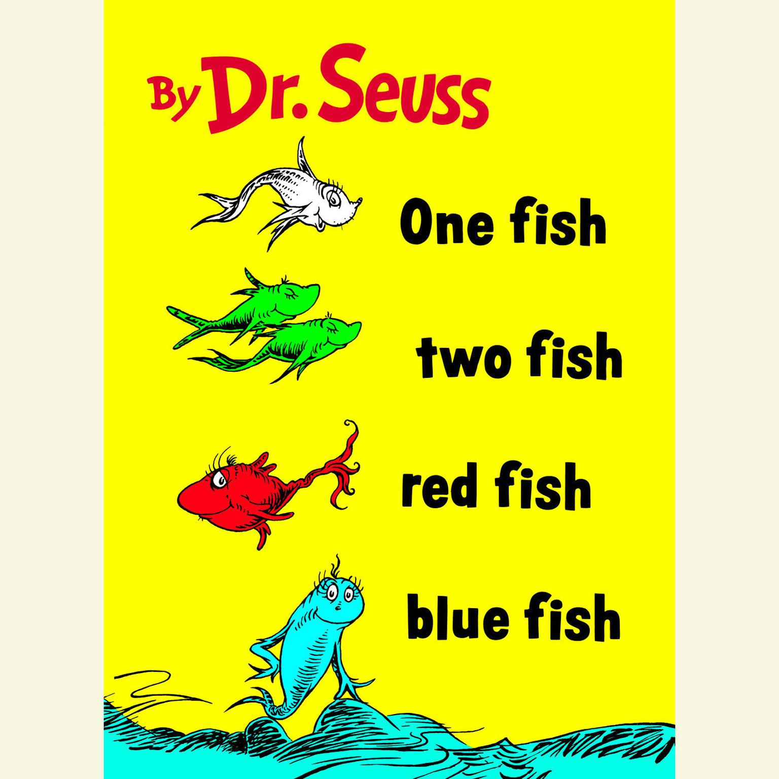 Printable One Fish Two Fish Red Fish Blue Fish Audiobook Cover Art