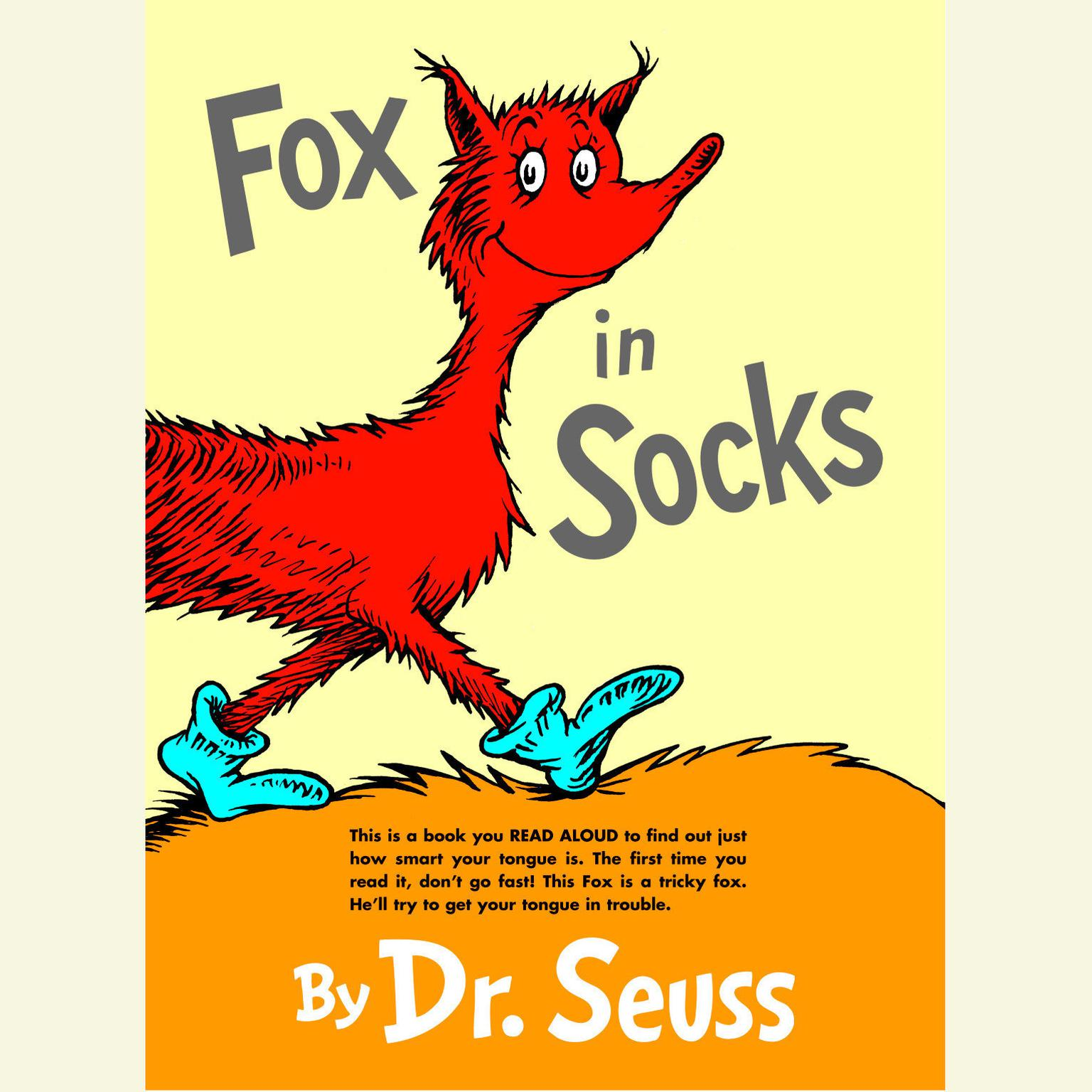 Printable Fox in Socks Audiobook Cover Art