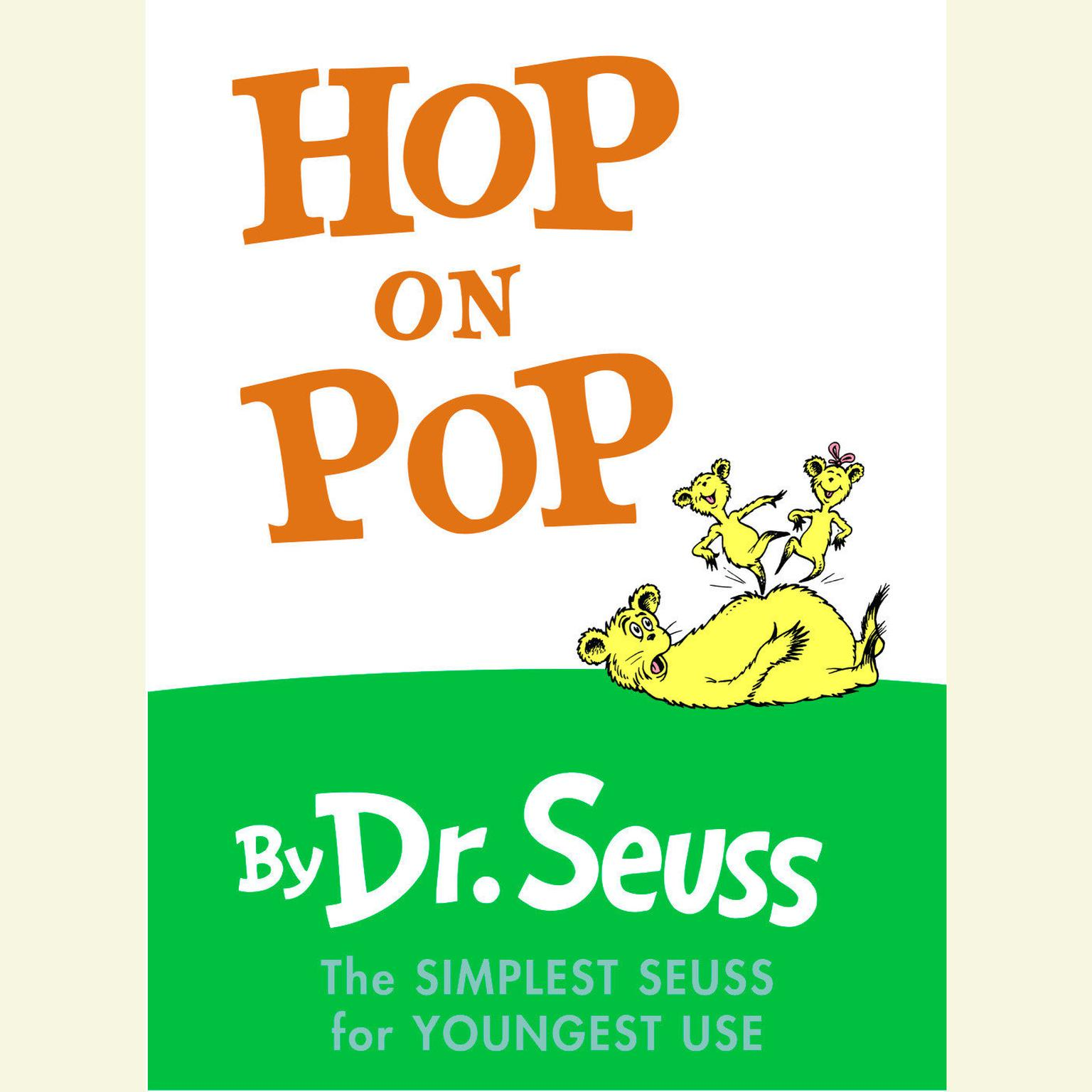 Printable Hop on Pop Audiobook Cover Art