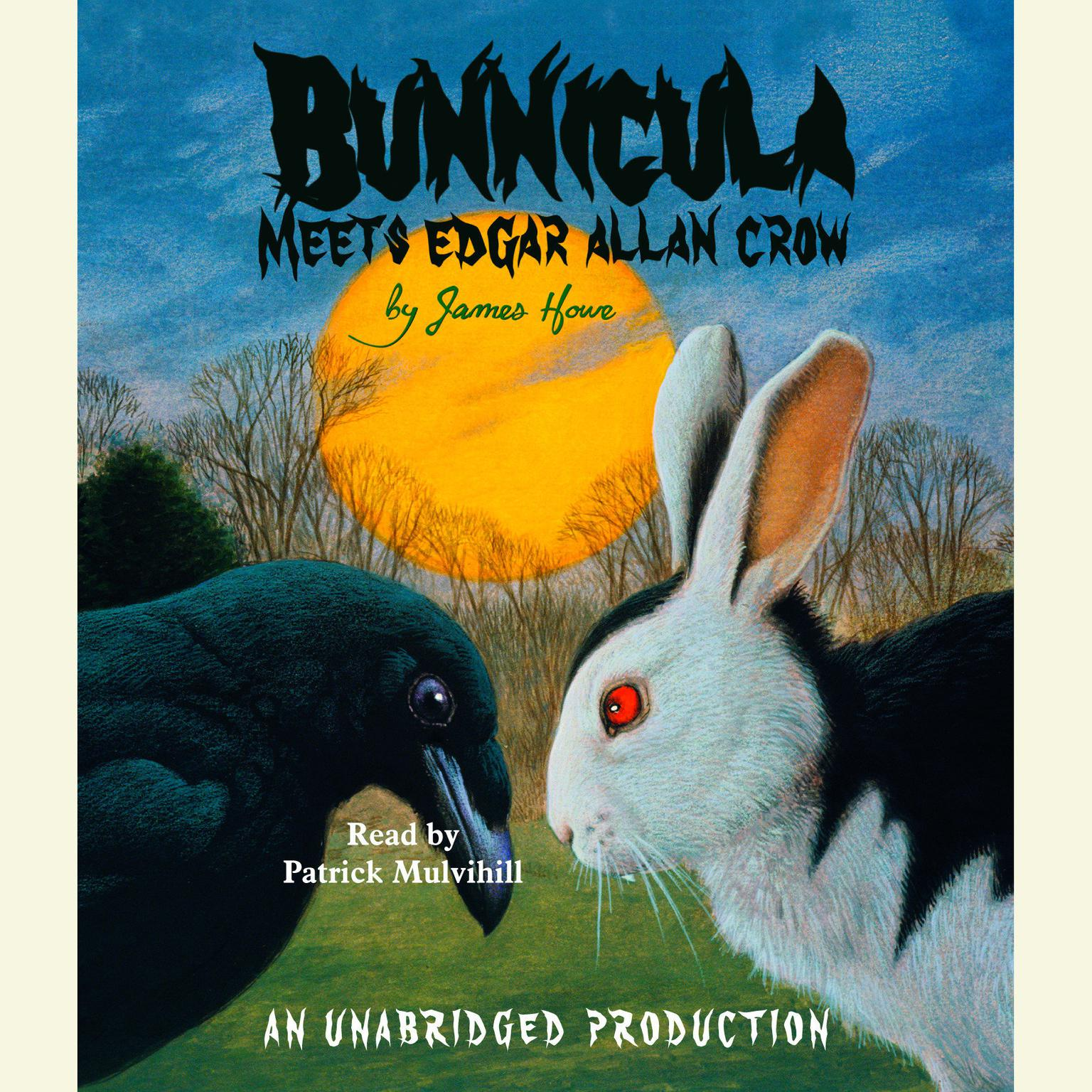 Printable Bunnicula Meets Edgar Allan Crow Audiobook Cover Art