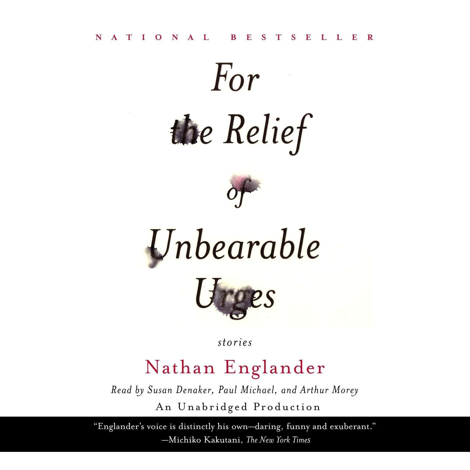 Printable For the Relief of Unbearable Urges: excerpted from the full collection,