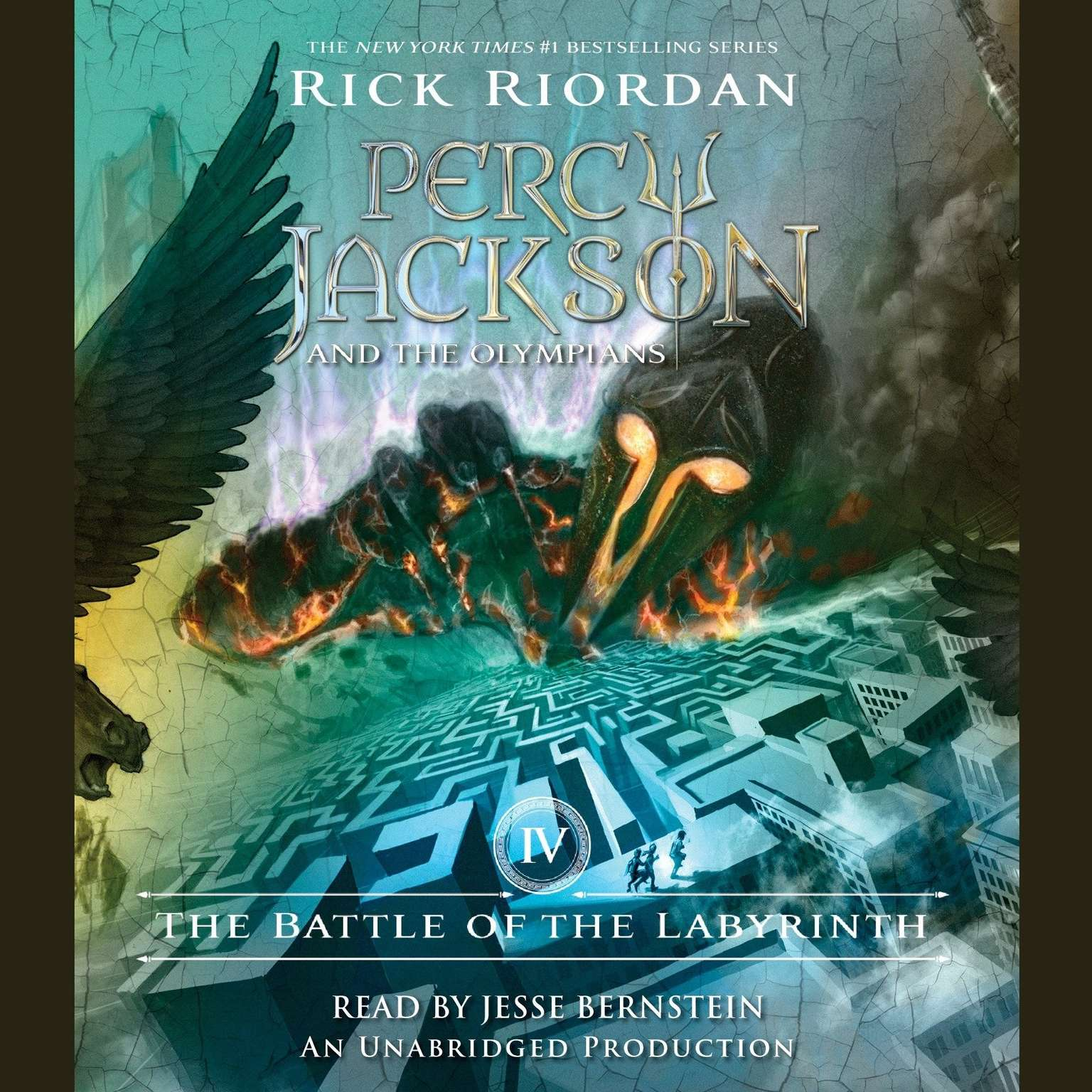 Printable The Battle of the Labyrinth: Percy Jackson and the Olympians, Book 4 Audiobook Cover Art