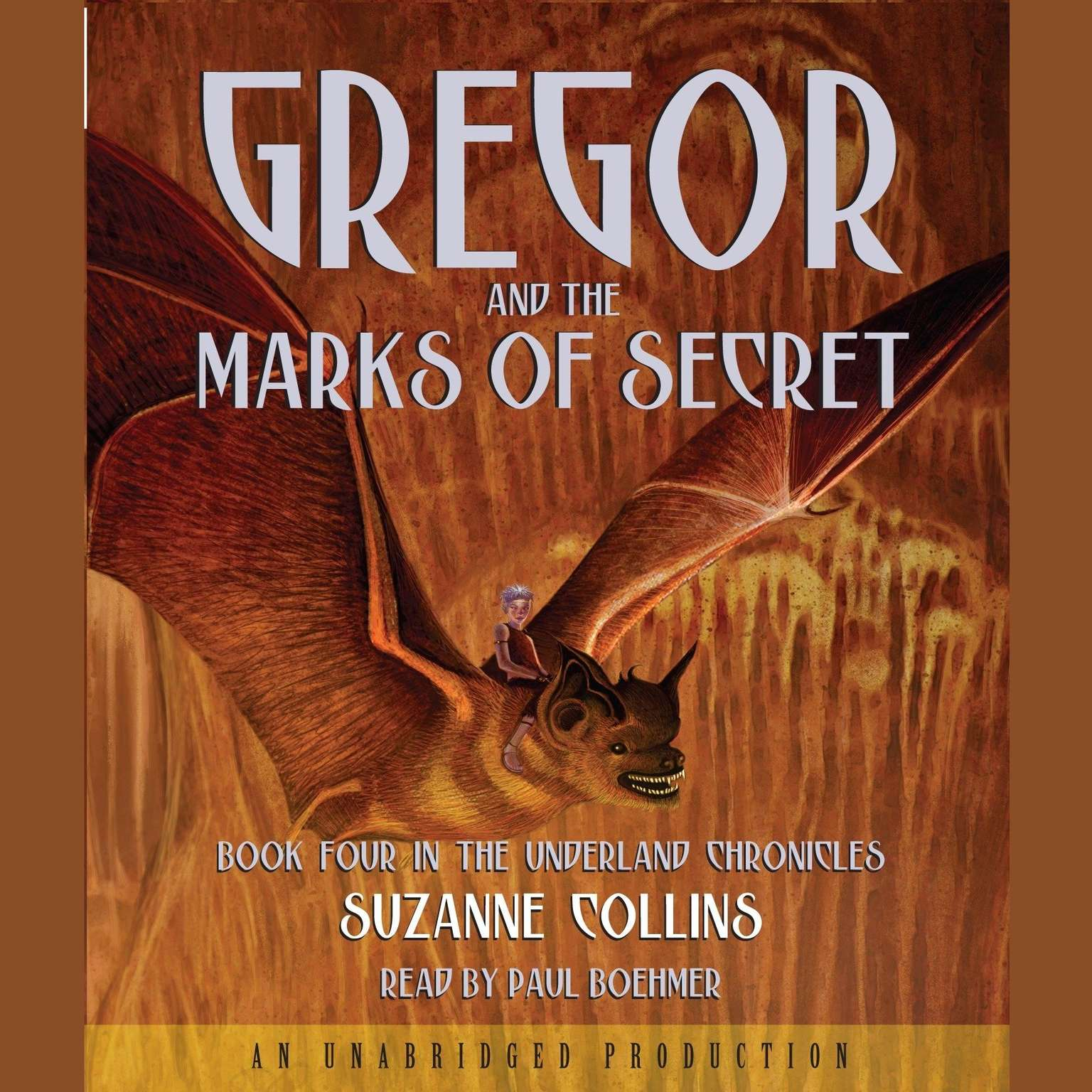 Printable The Underland Chronicles Book Four: Gregor and the Marks of Secret Audiobook Cover Art