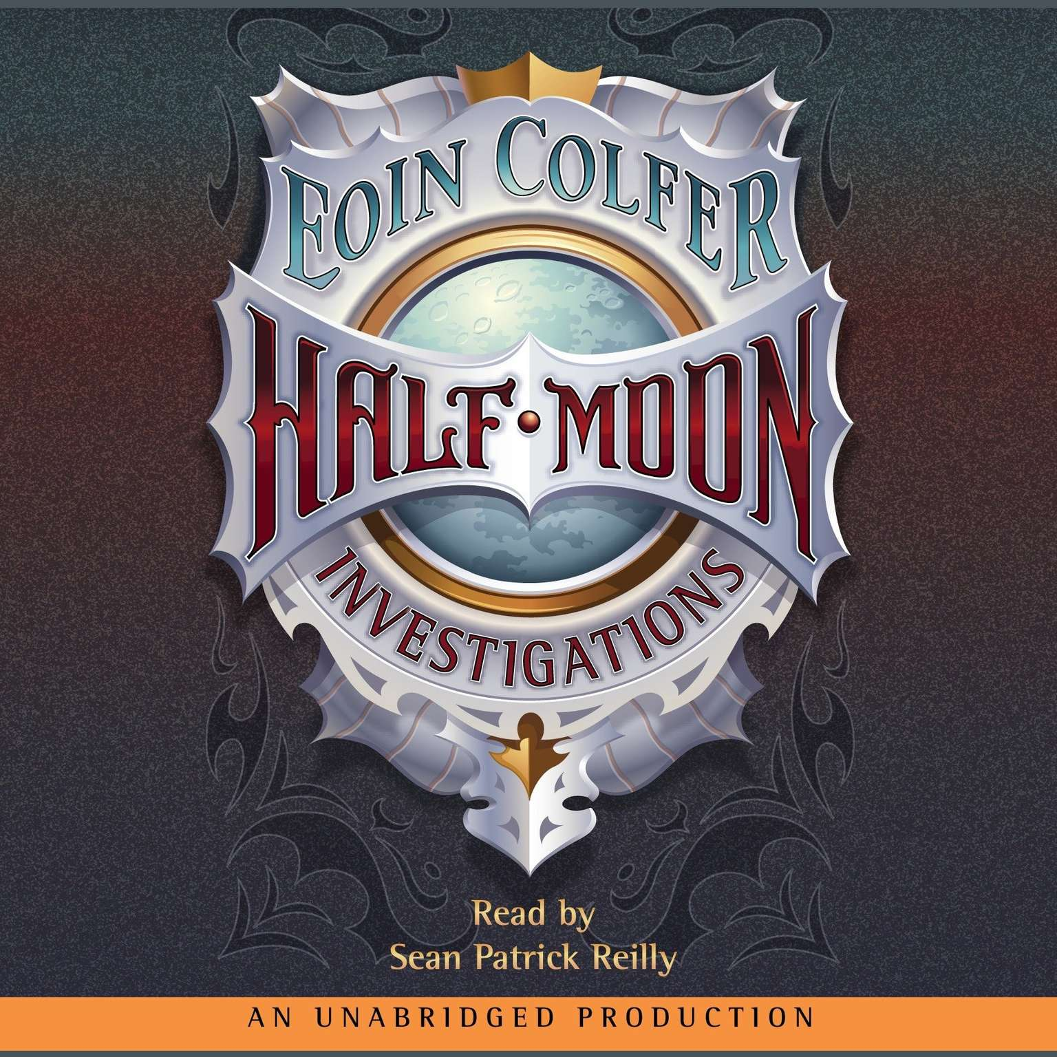 Printable Half-Moon Investigations Audiobook Cover Art