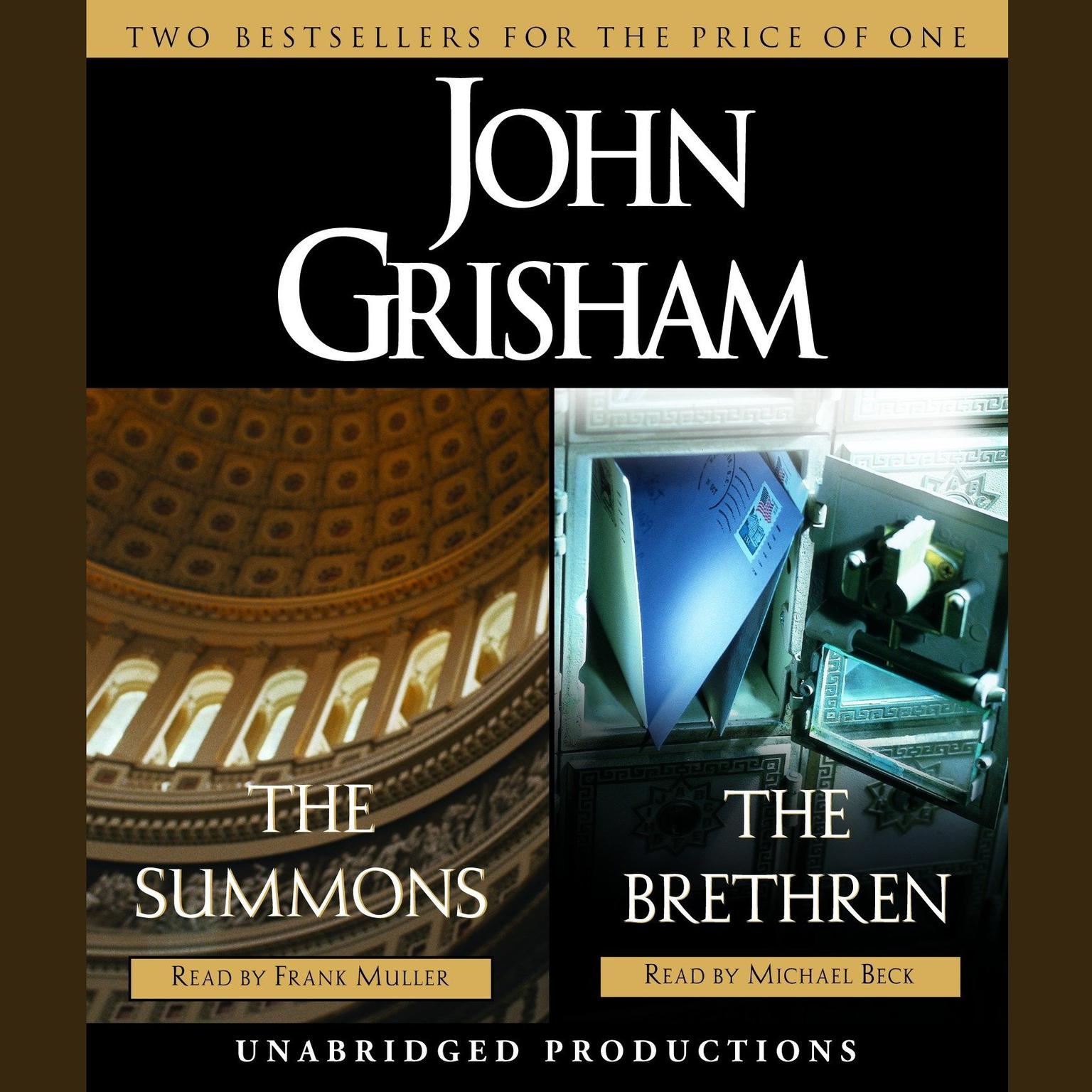 Printable The Summons & The Brethren Audiobook Cover Art