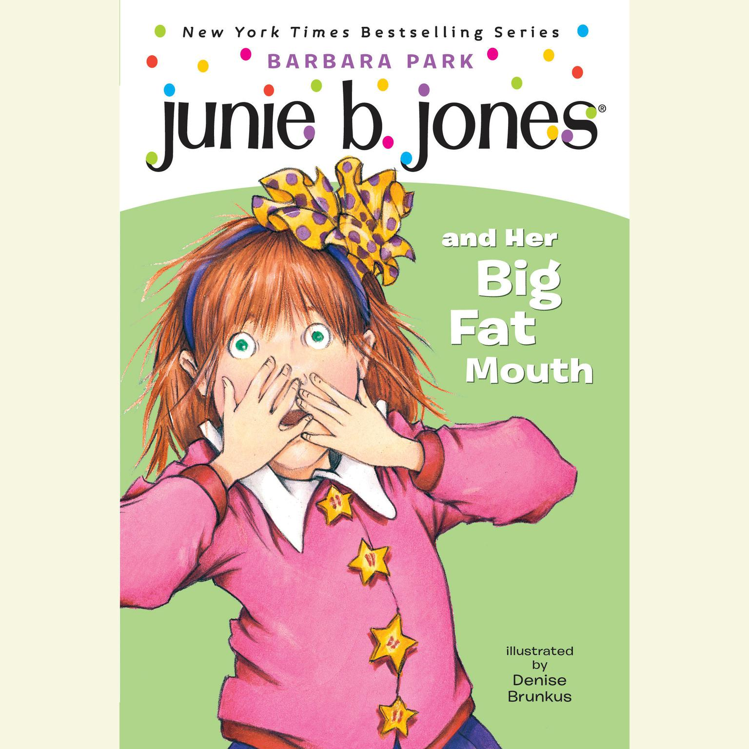Printable Junie B. Jones and Her Big Fat Mouth Audiobook Cover Art