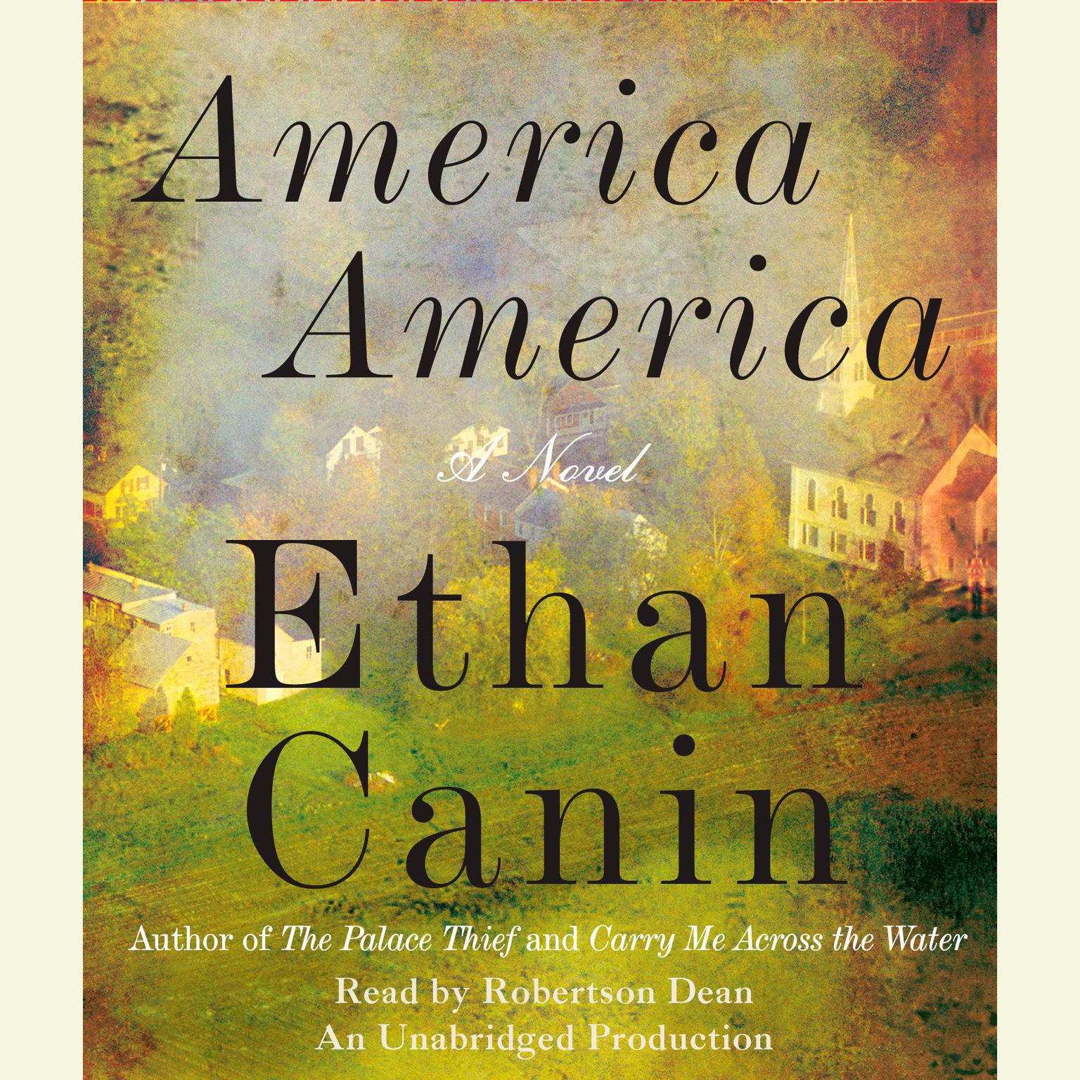 Printable America America: A Novel Audiobook Cover Art