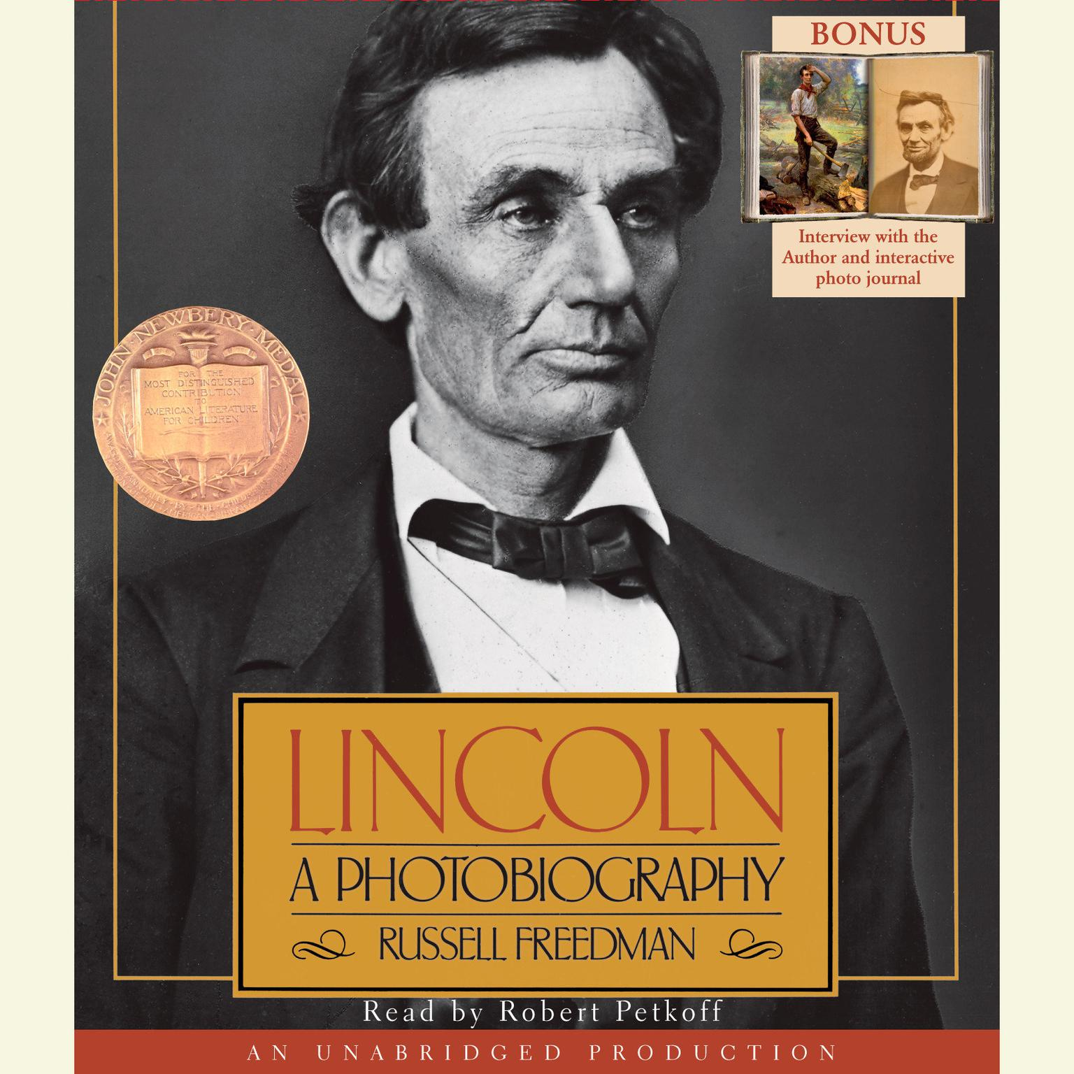 Printable Lincoln: A Photobiography Audiobook Cover Art