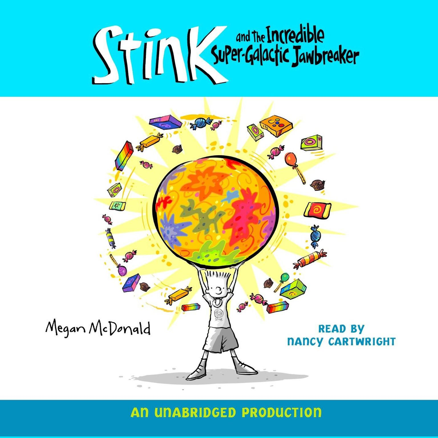 Printable Stink and the Incredible Super-Galactic Jawbreaker Audiobook Cover Art