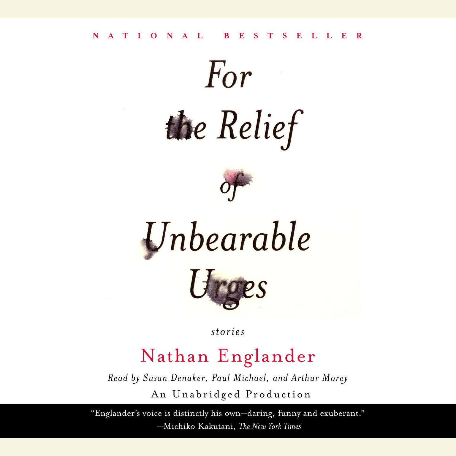 Printable For the Relief of Unbearable Urges Audiobook Cover Art