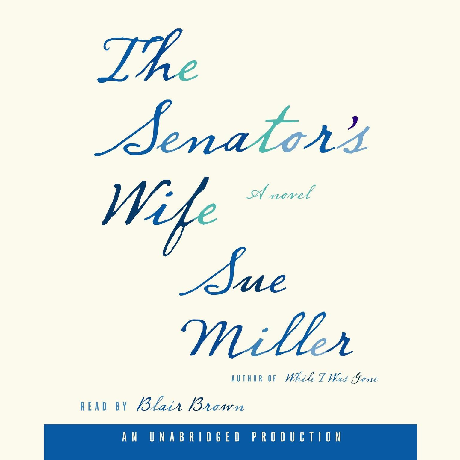 Printable The Senator's Wife Audiobook Cover Art