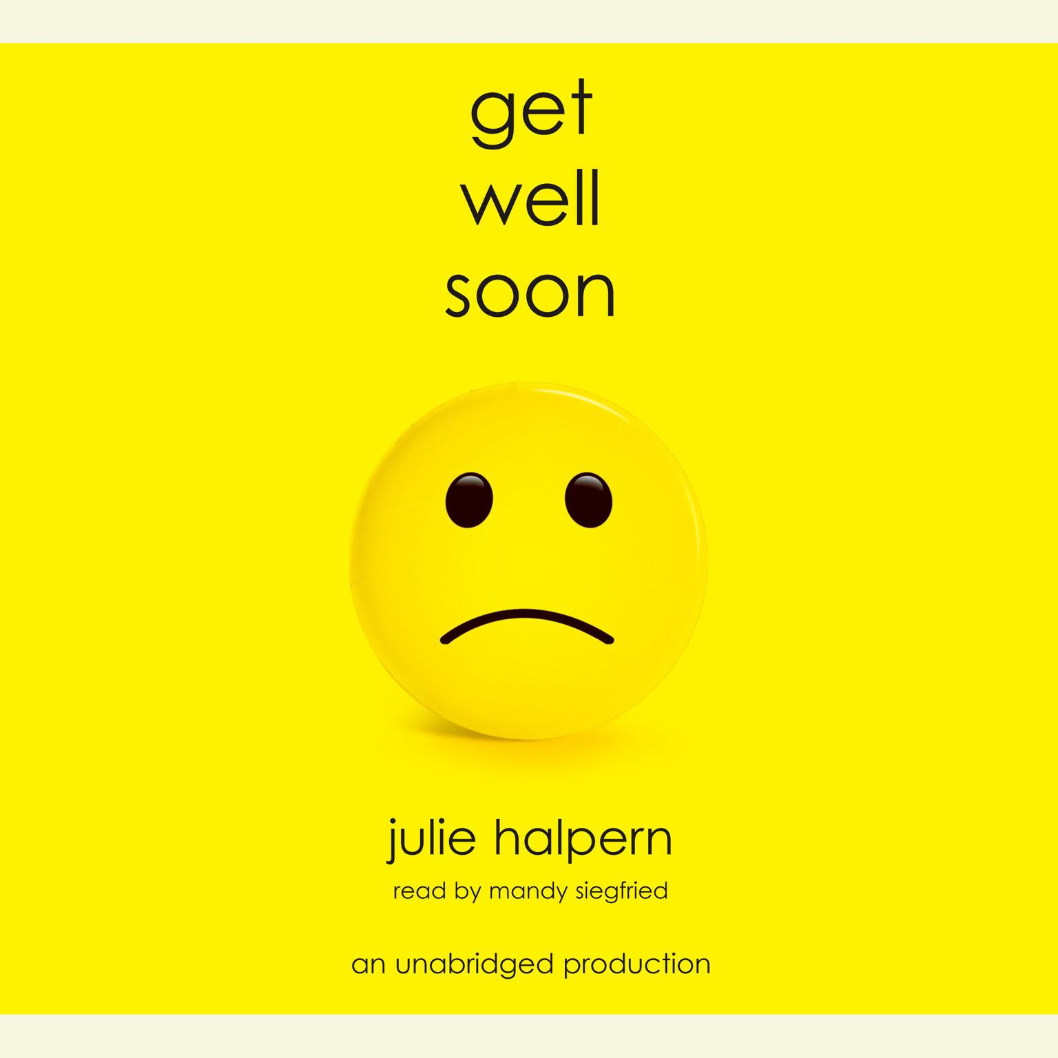 Printable Get Well Soon Audiobook Cover Art
