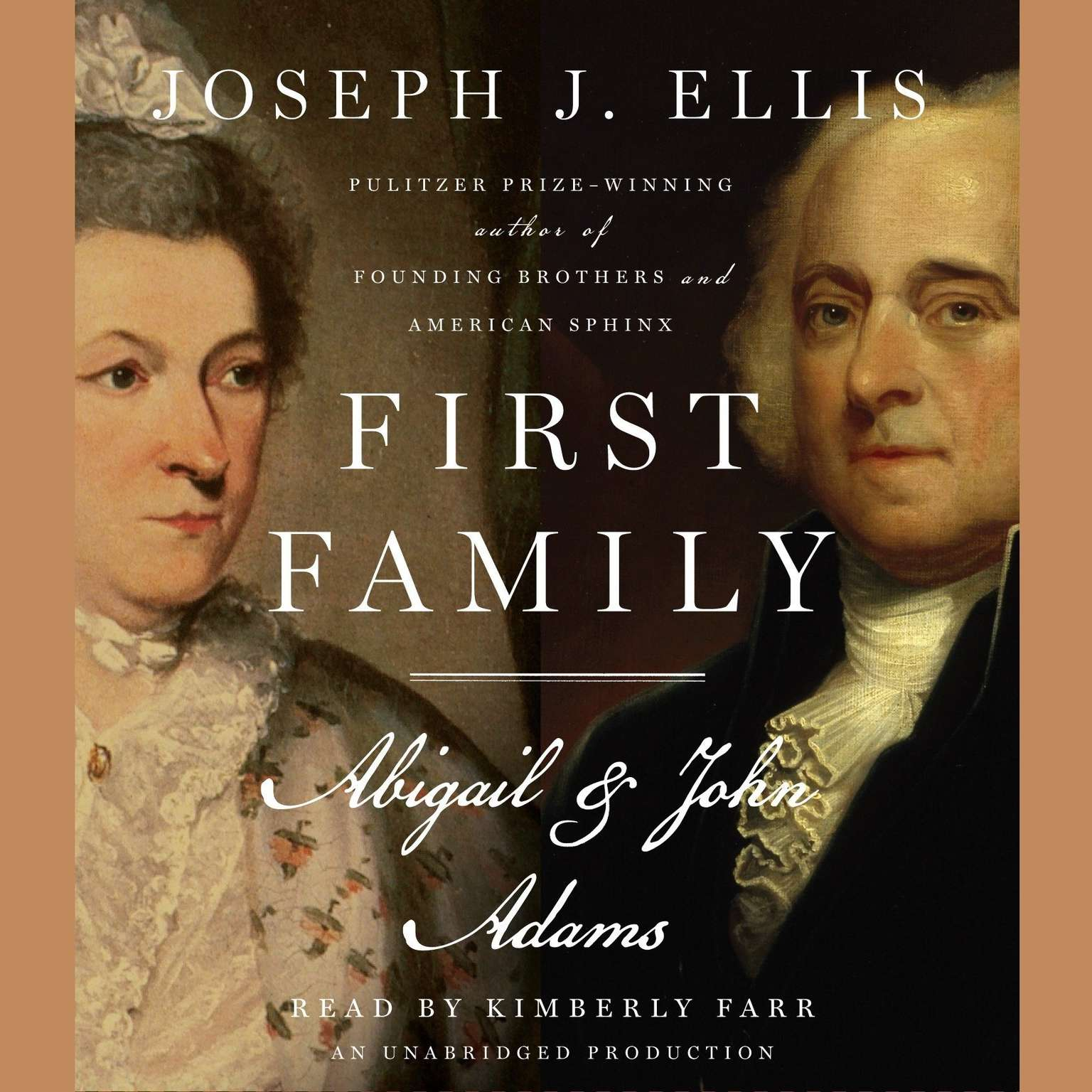 Printable First Family: Abigail and John Adams Audiobook Cover Art