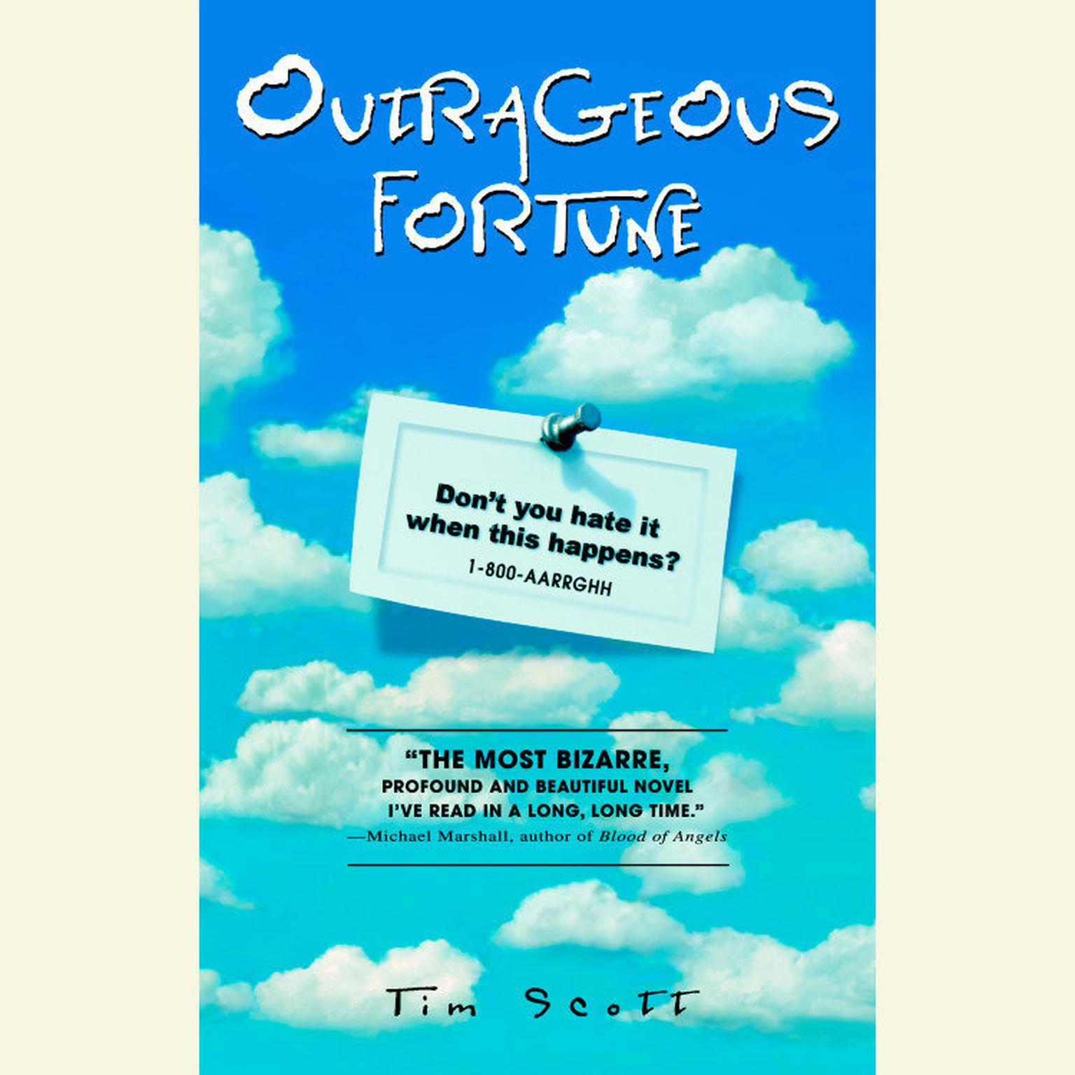 Printable Outrageous Fortune Audiobook Cover Art
