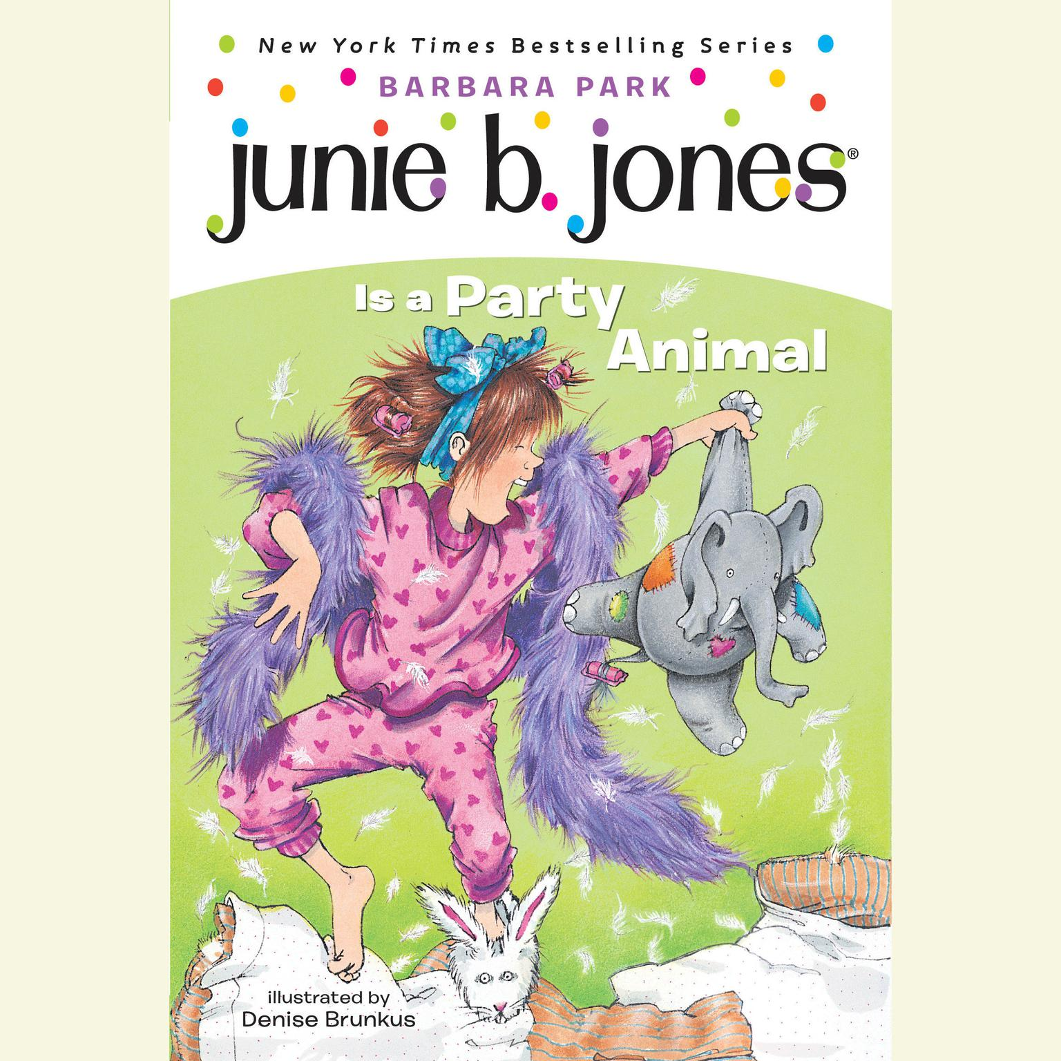 Printable Junie B. Jones Is a Party Animal Audiobook Cover Art