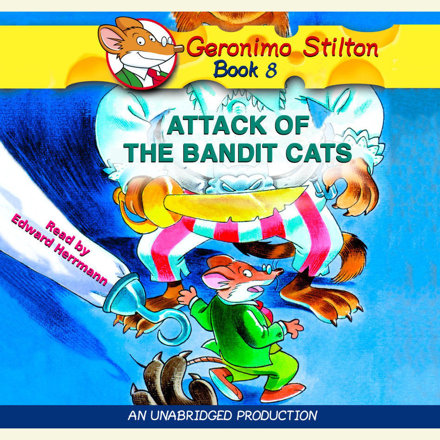 Printable Geronimo Stilton #8: Attack of the Bandit Cats Audiobook Cover Art