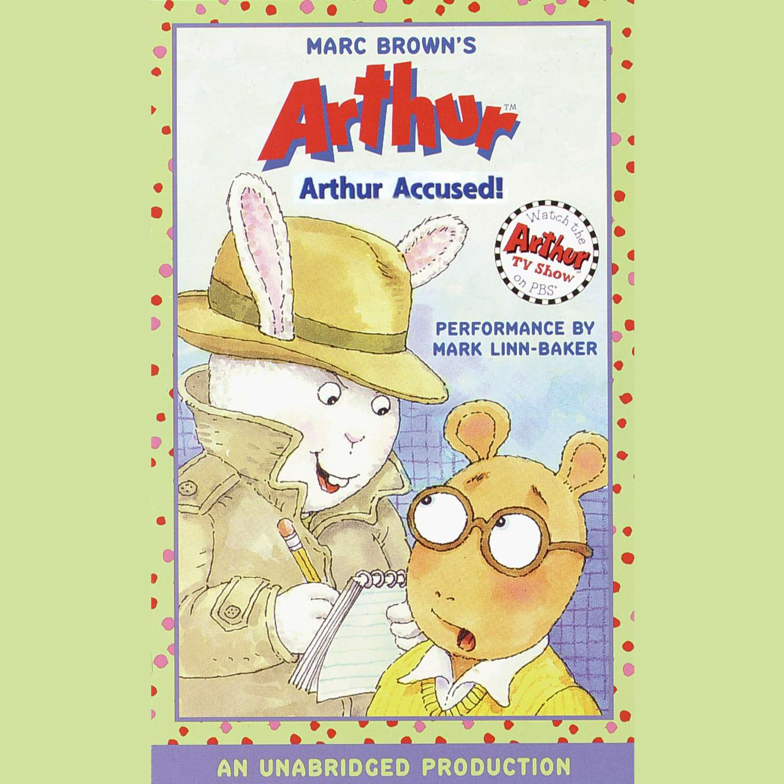 Printable Arthur Accused!: A Marc Brown Arthur Chapter Book #5 Audiobook Cover Art
