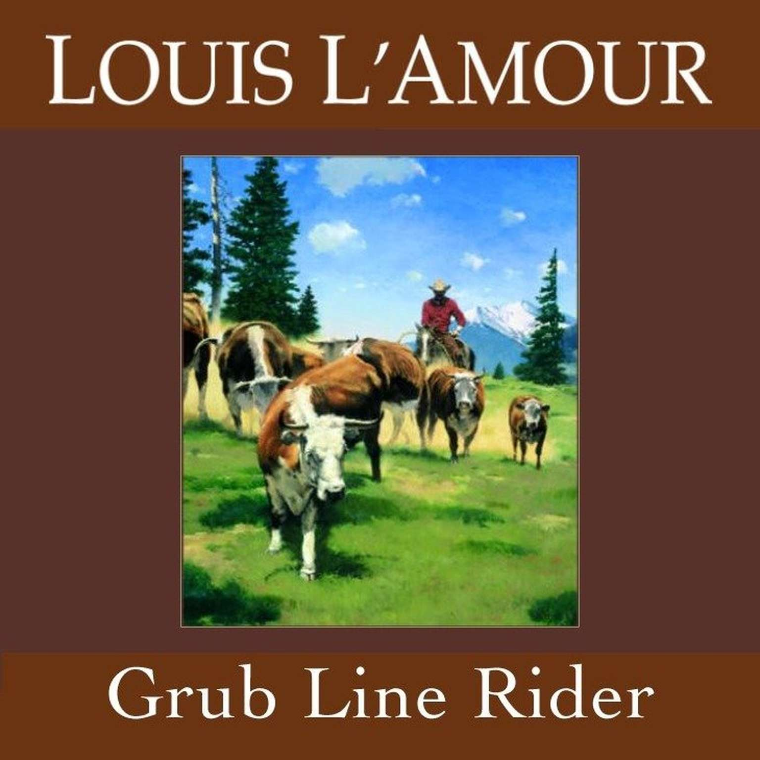 Printable Grub Line Rider Audiobook Cover Art