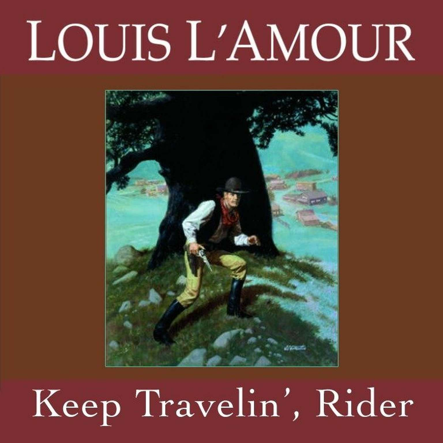 Printable Keep Travelin' Rider Audiobook Cover Art