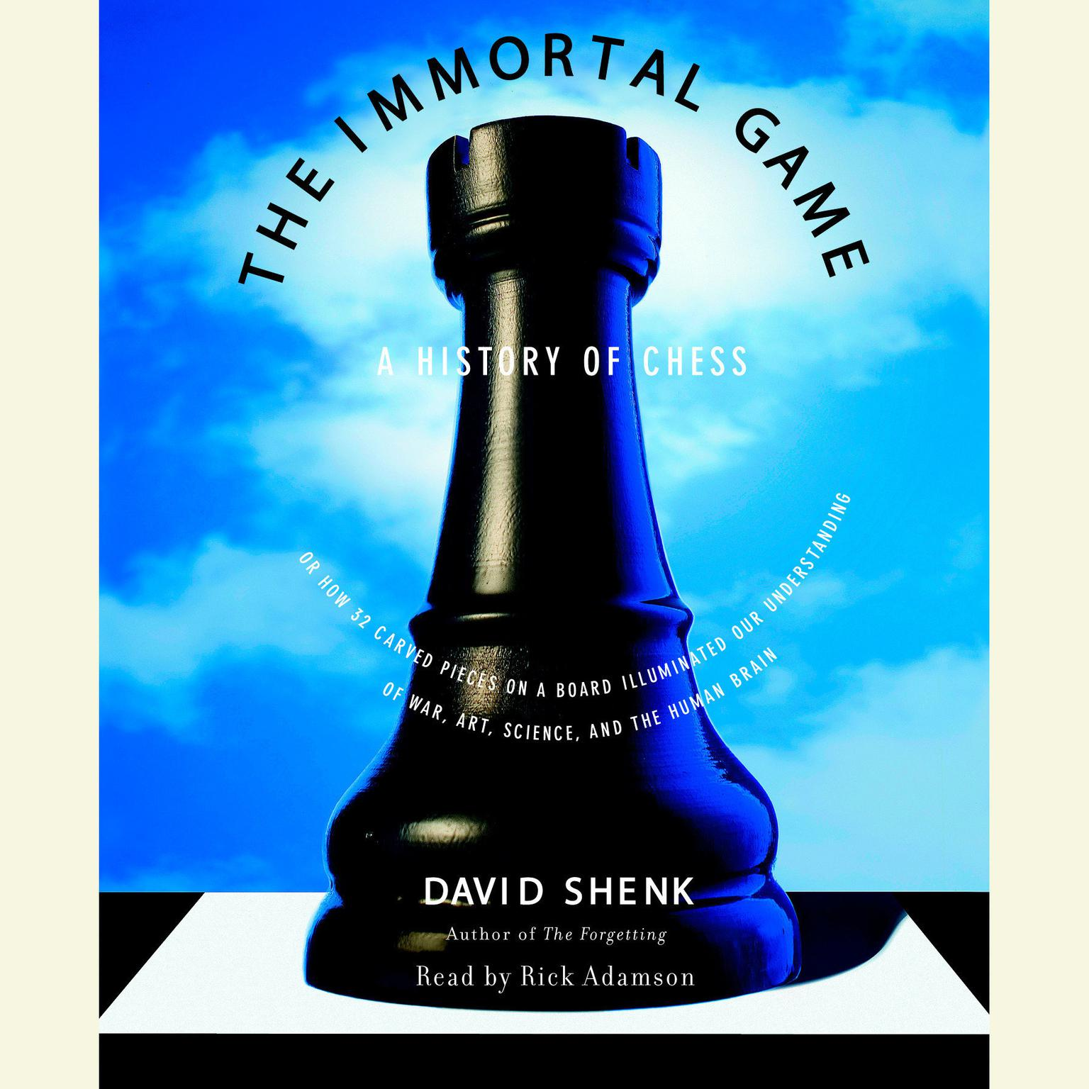 Printable The Immortal Game: A History of Chess Audiobook Cover Art