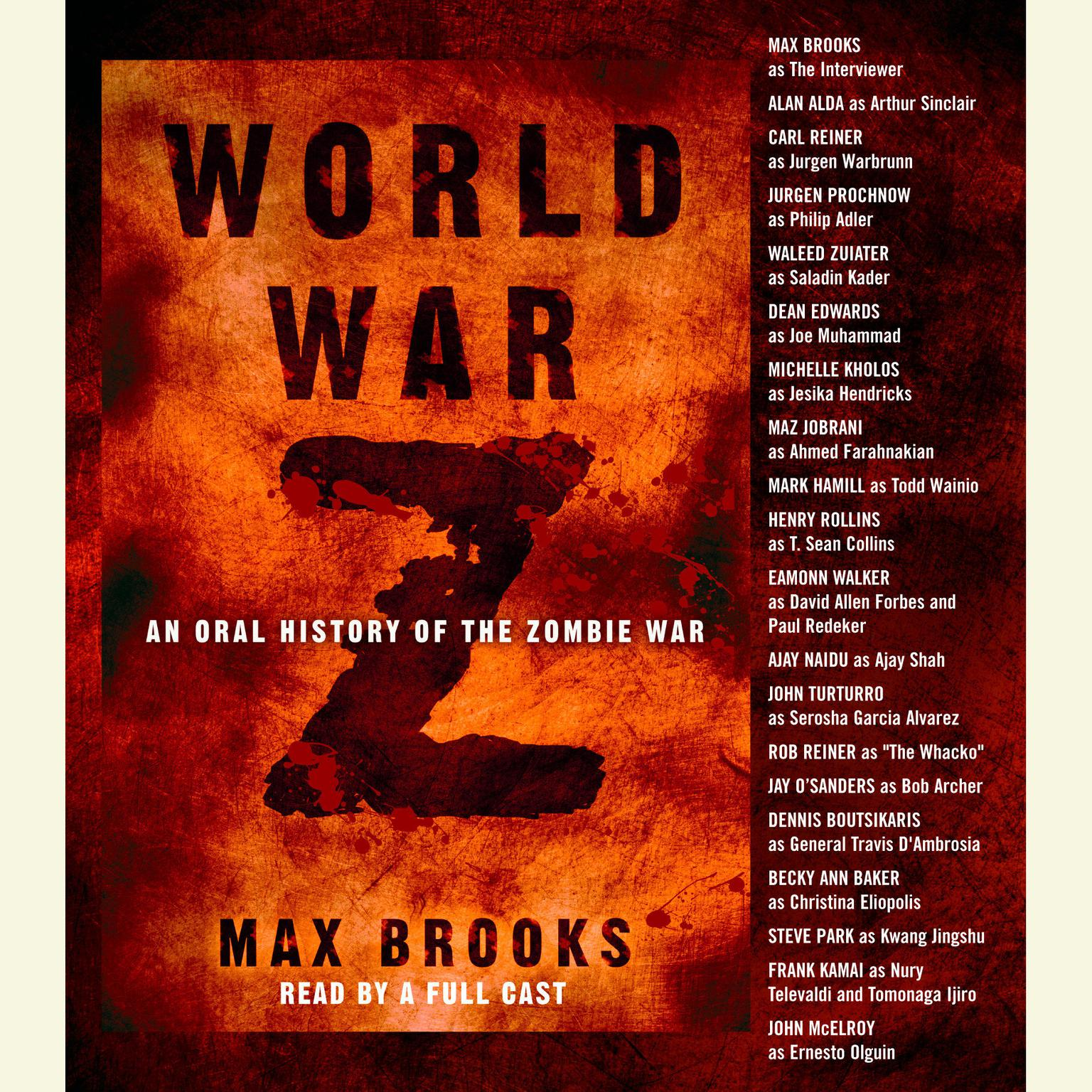 Printable World War Z: An Oral History of the Zombie War Audiobook Cover Art