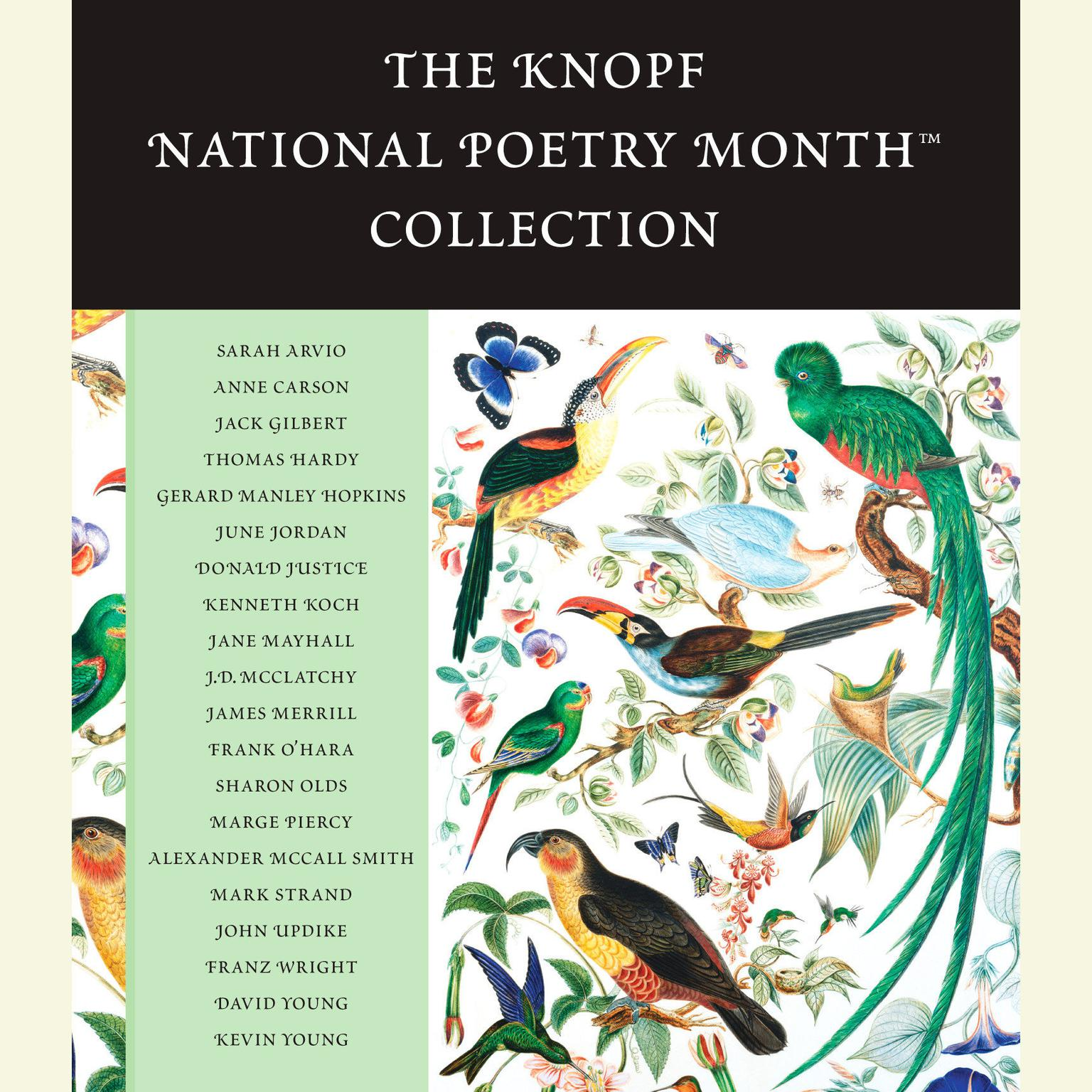 Printable The Knopf National Poetry Month™ Collection Audiobook Cover Art