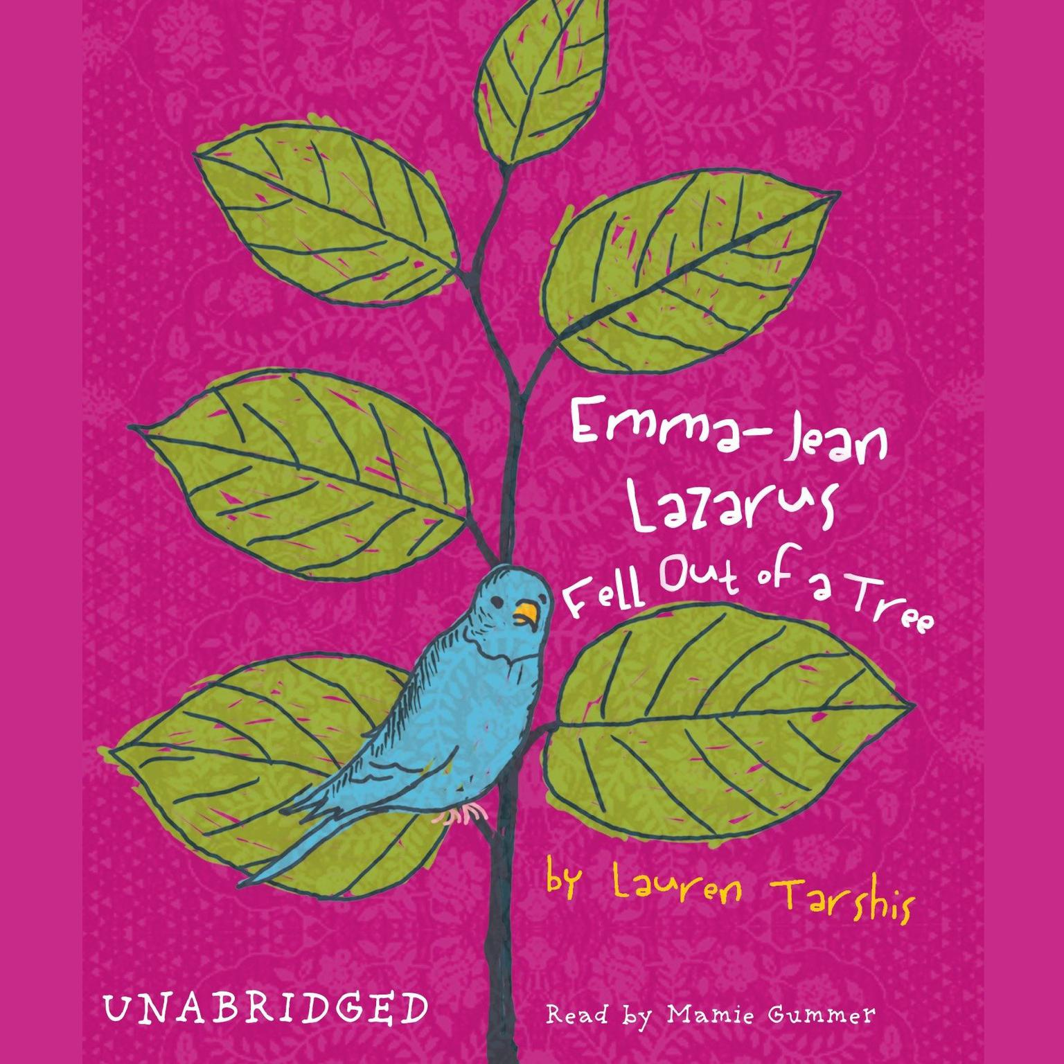Printable Emma-Jean Lazarus Fell Out of a Tree Audiobook Cover Art
