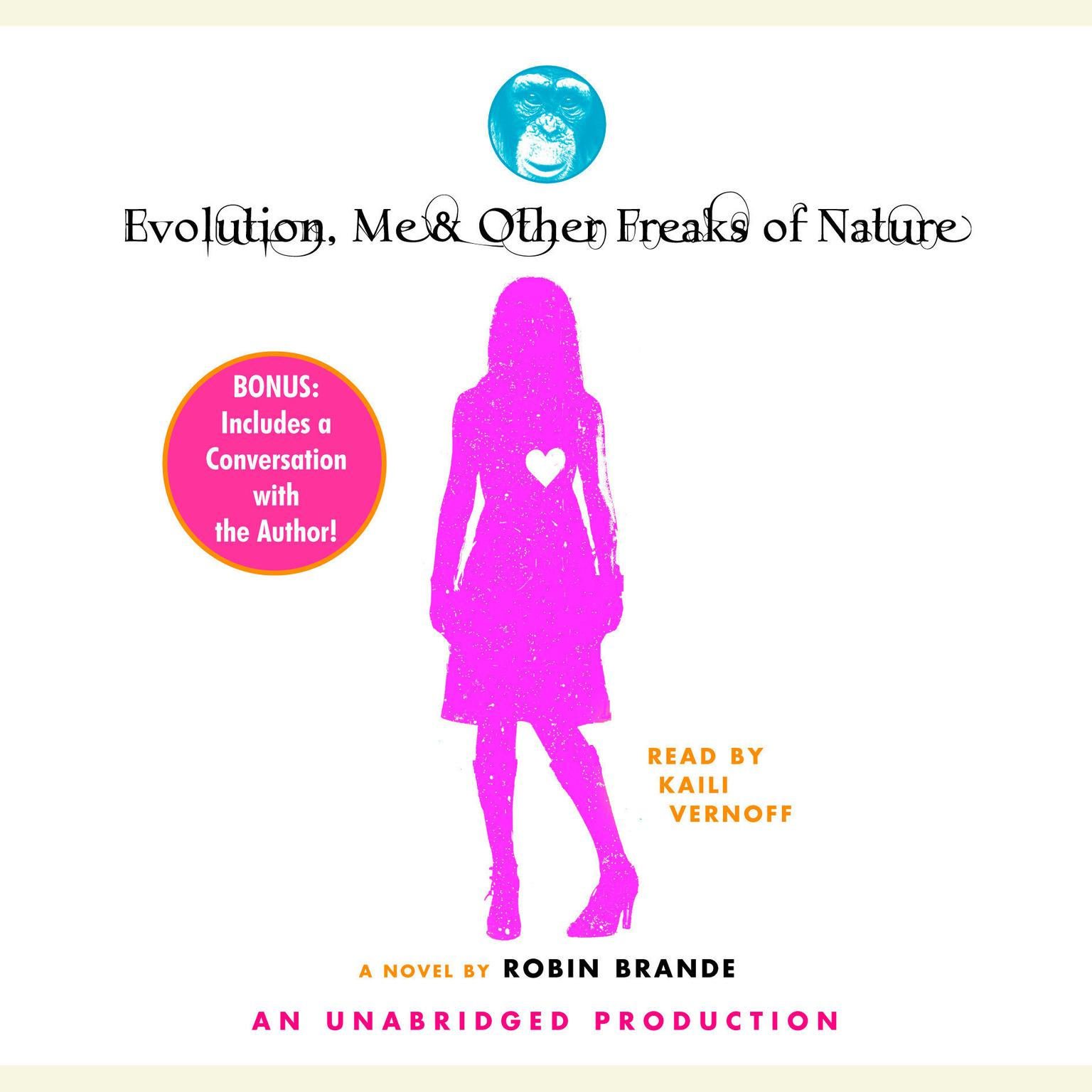 Printable Evolution, Me & Other Freaks of Nature Audiobook Cover Art