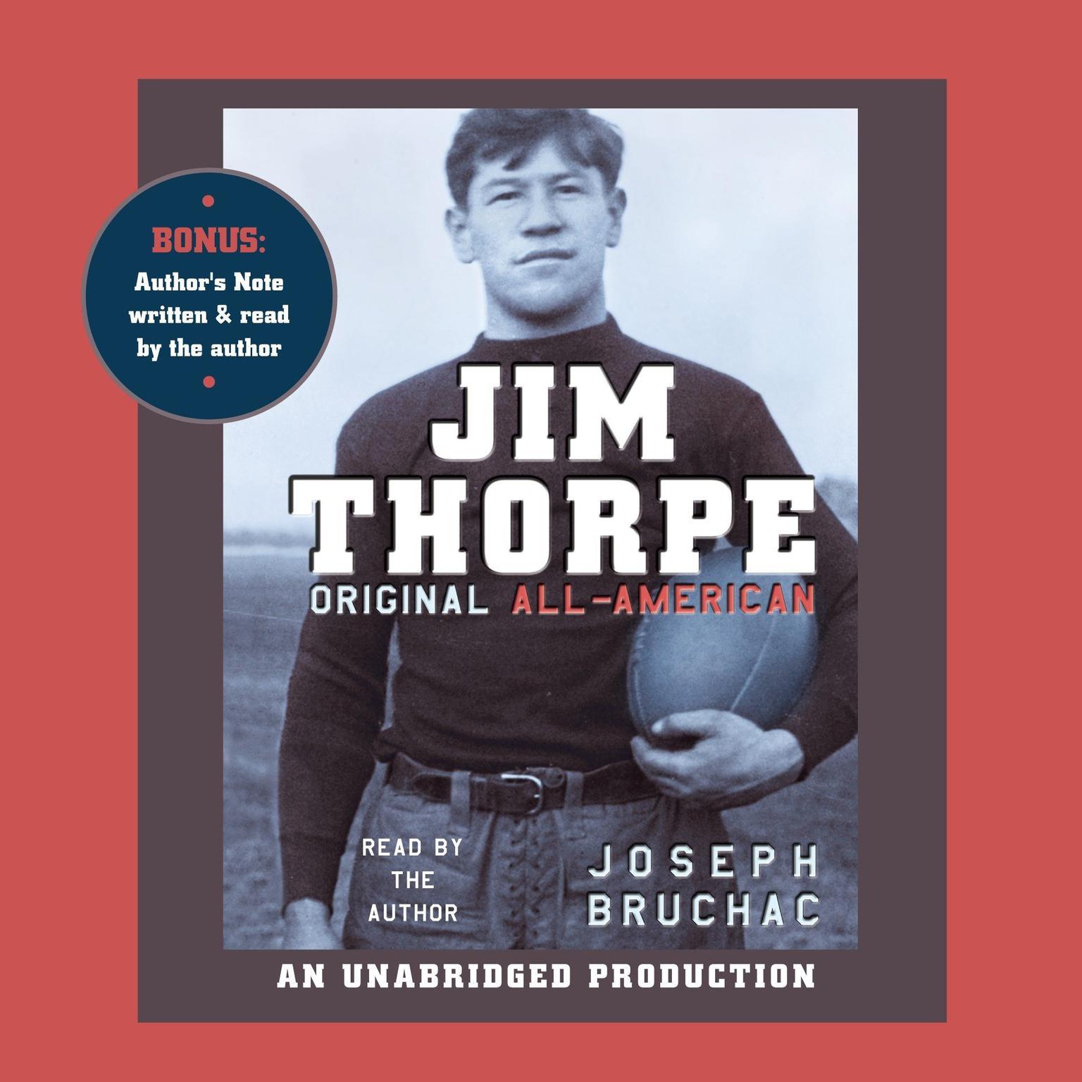 Printable Jim Thorpe, Original All-American Audiobook Cover Art