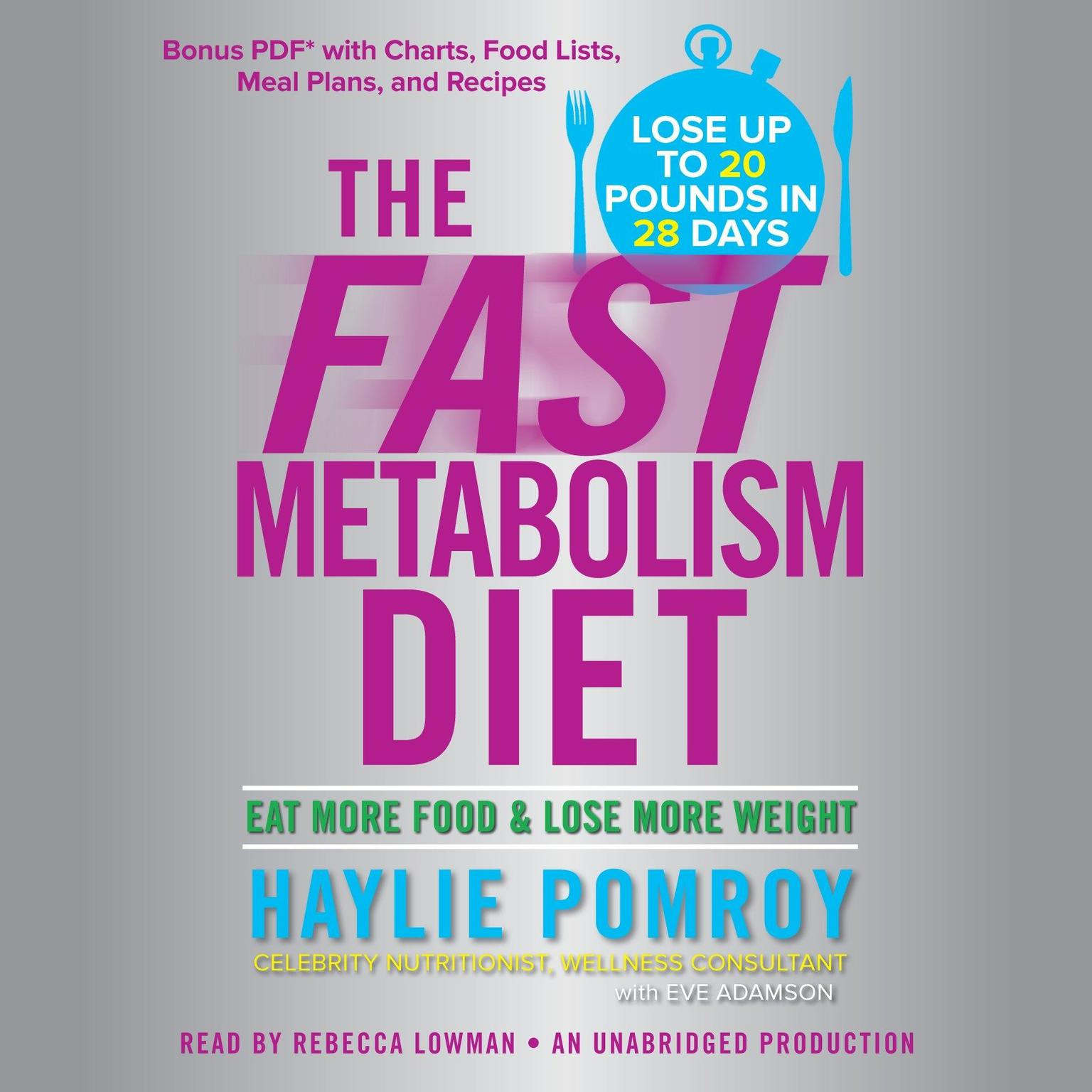 The Fast Metabolism Diet: Eat More Food and Lose More Weight Audiobook