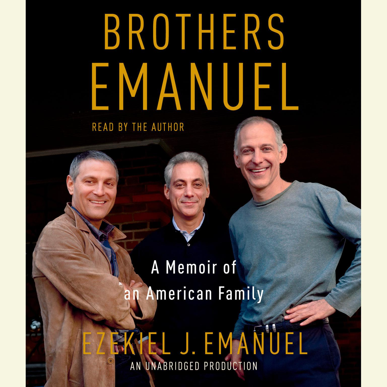 Printable Brothers Emanuel: A Memoir of an American Family Audiobook Cover Art