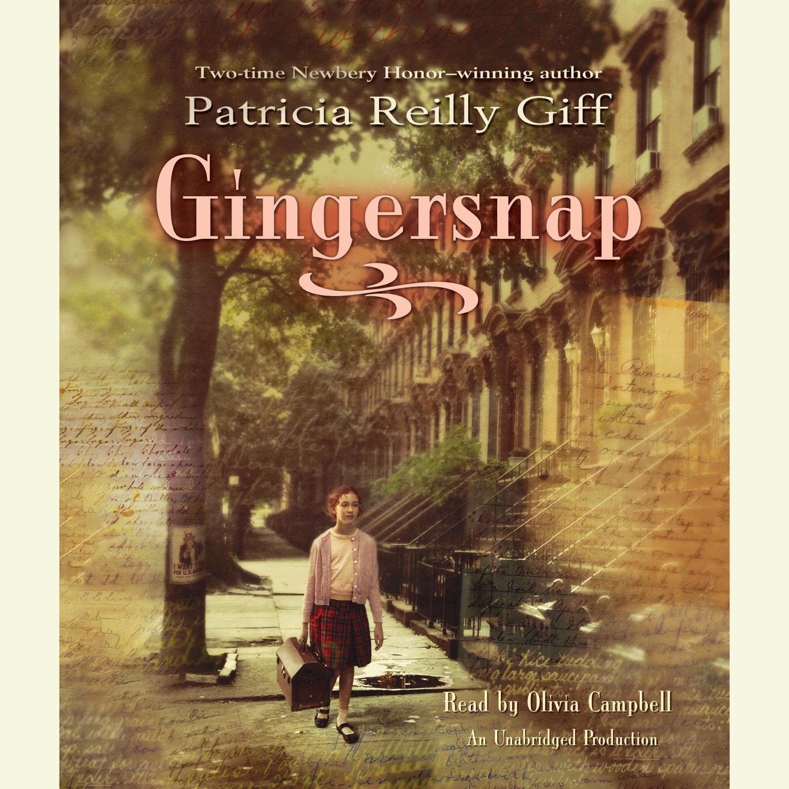 Printable Gingersnap Audiobook Cover Art