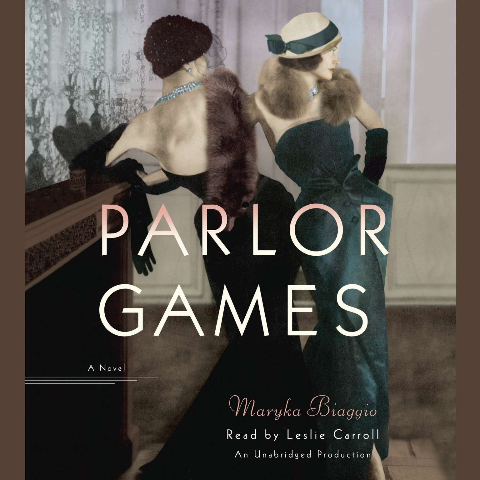 Printable Parlor Games: A Novel Audiobook Cover Art
