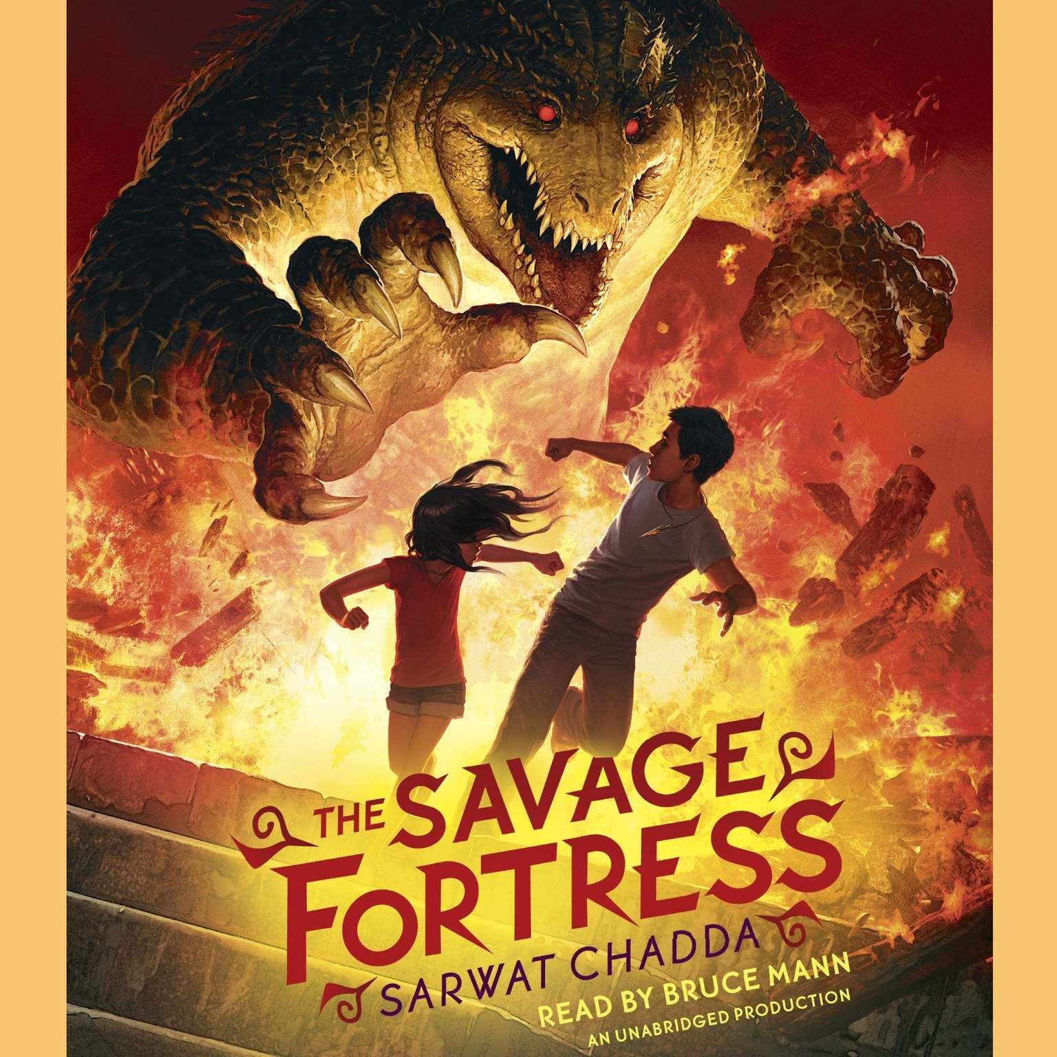 Printable The Savage Fortress Audiobook Cover Art