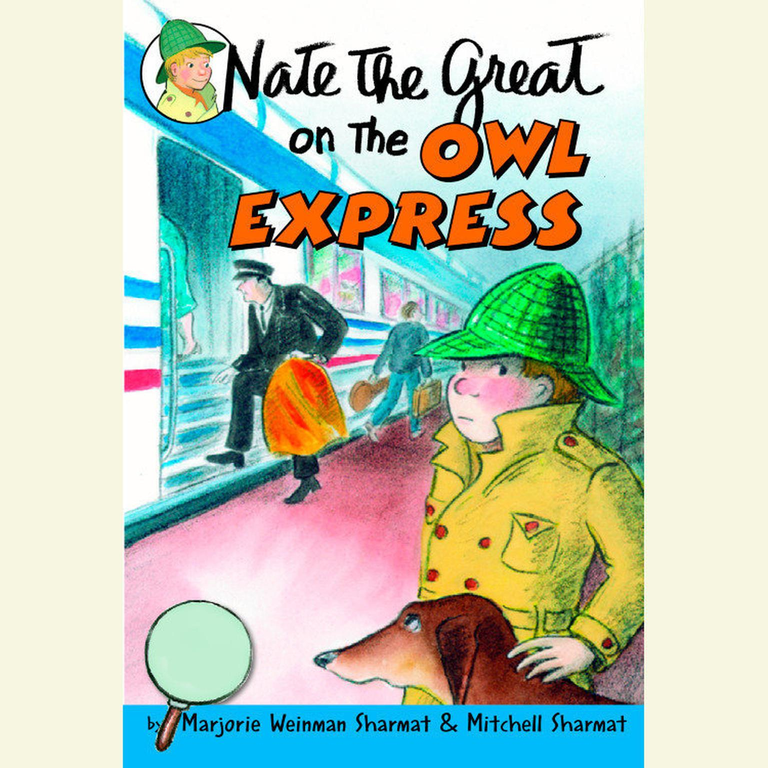 Printable Nate the Great on the Owl Express Audiobook Cover Art