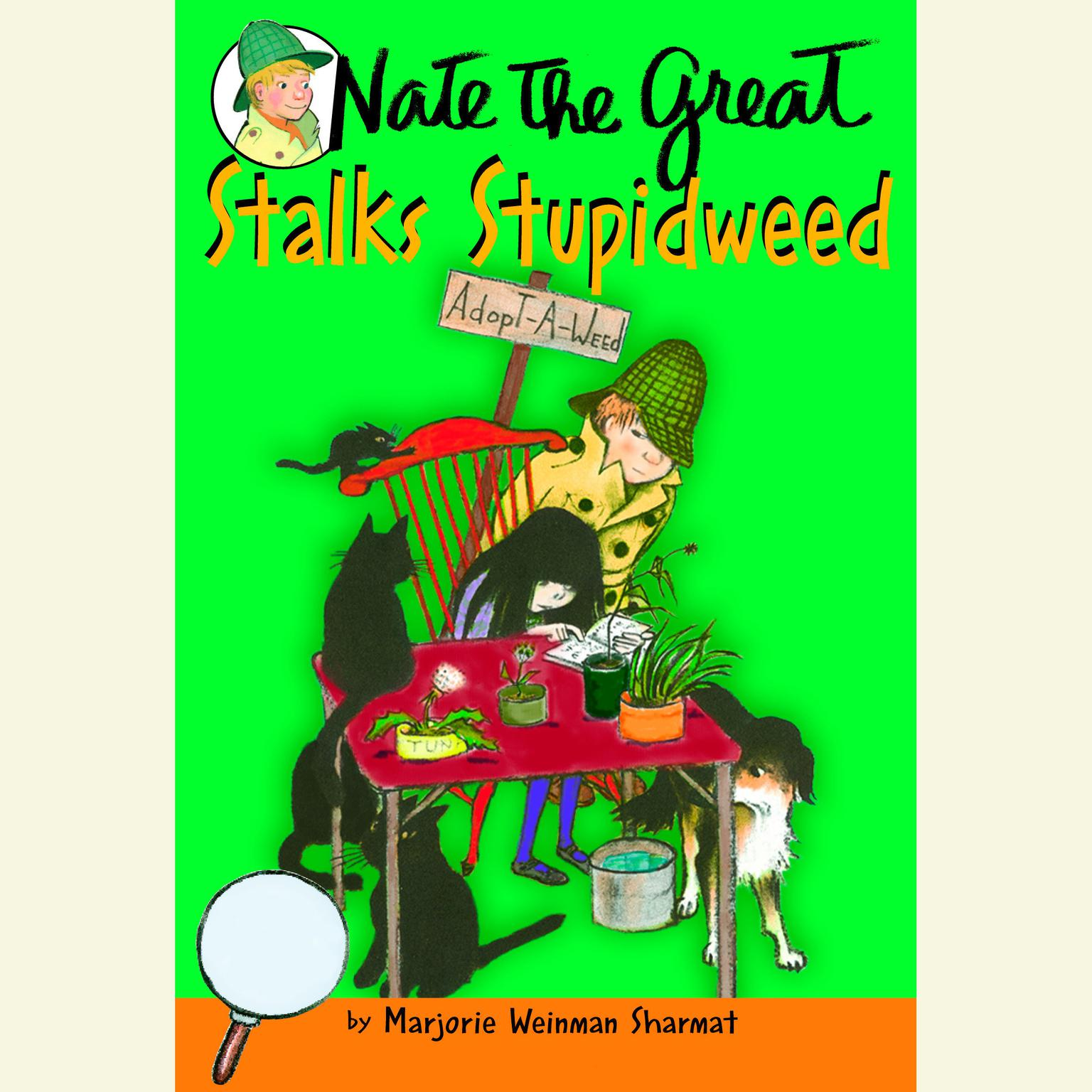 Printable Nate the Great Stalks Stupidweed Audiobook Cover Art