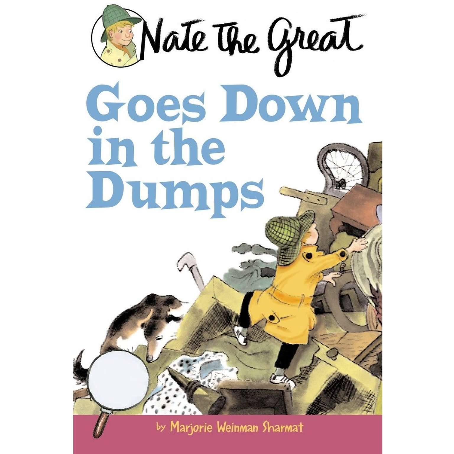 Printable Nate the Great Goes Down in the Dumps Audiobook Cover Art